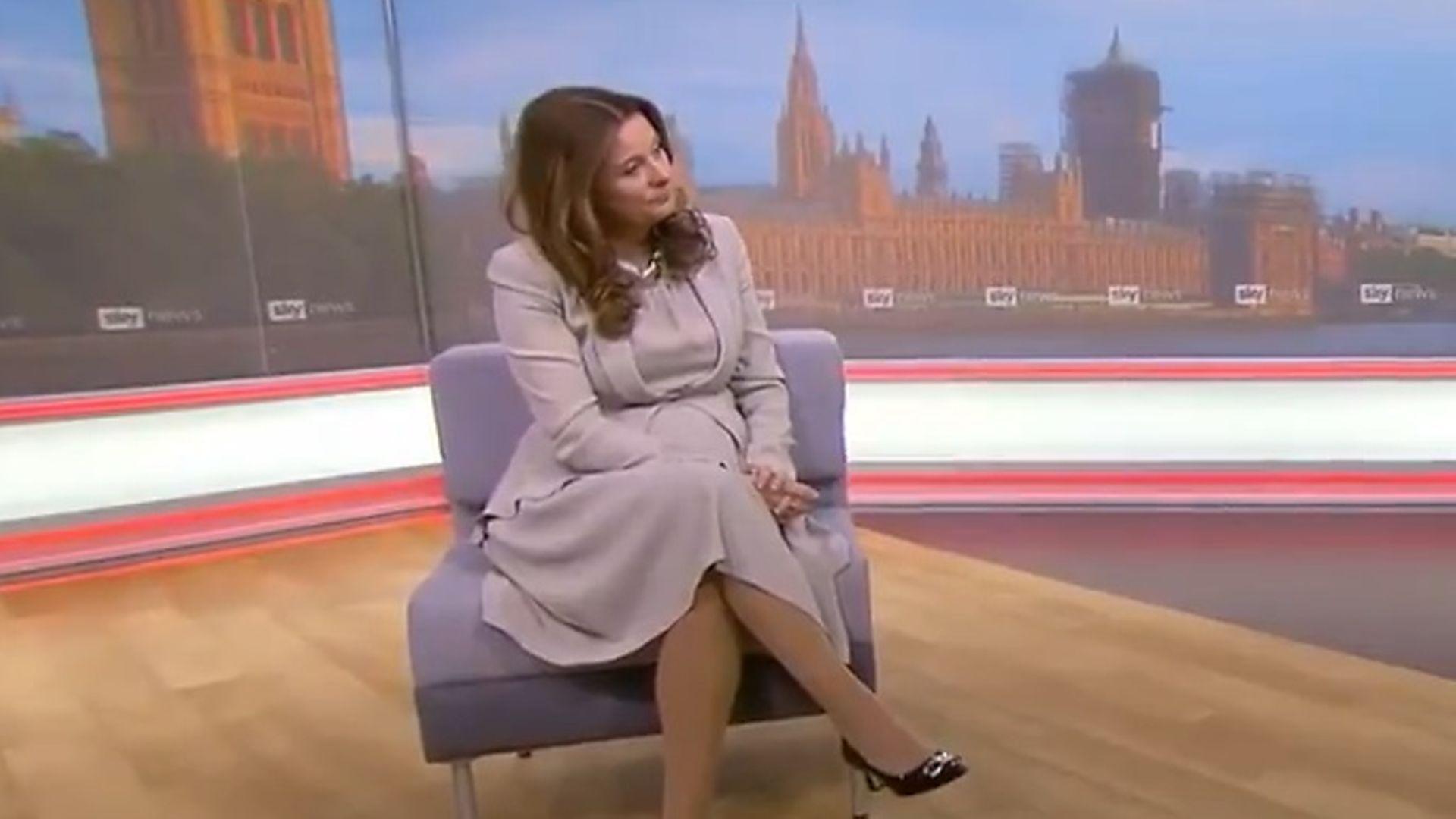 Gillian Keegan during one of her broadcast interviews - Credit: Sky News