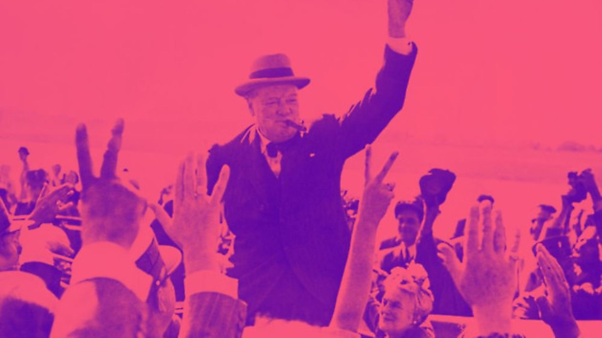 Sir Winston Churchill makes the Victory Sign - Credit: Archant