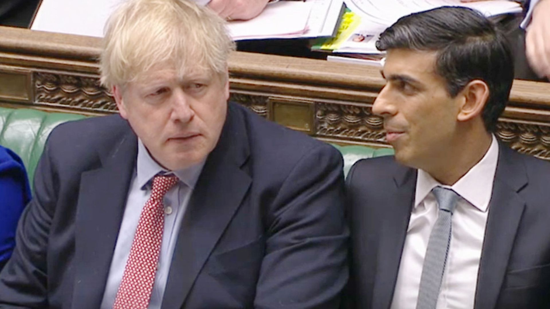Prime Minister Boris Johnson (left) alongside Chancellor Rishi Sunak during Prime Minister's Questions in the House of Commons. Photograph: House of Commons/PA Wire. - Credit: PA