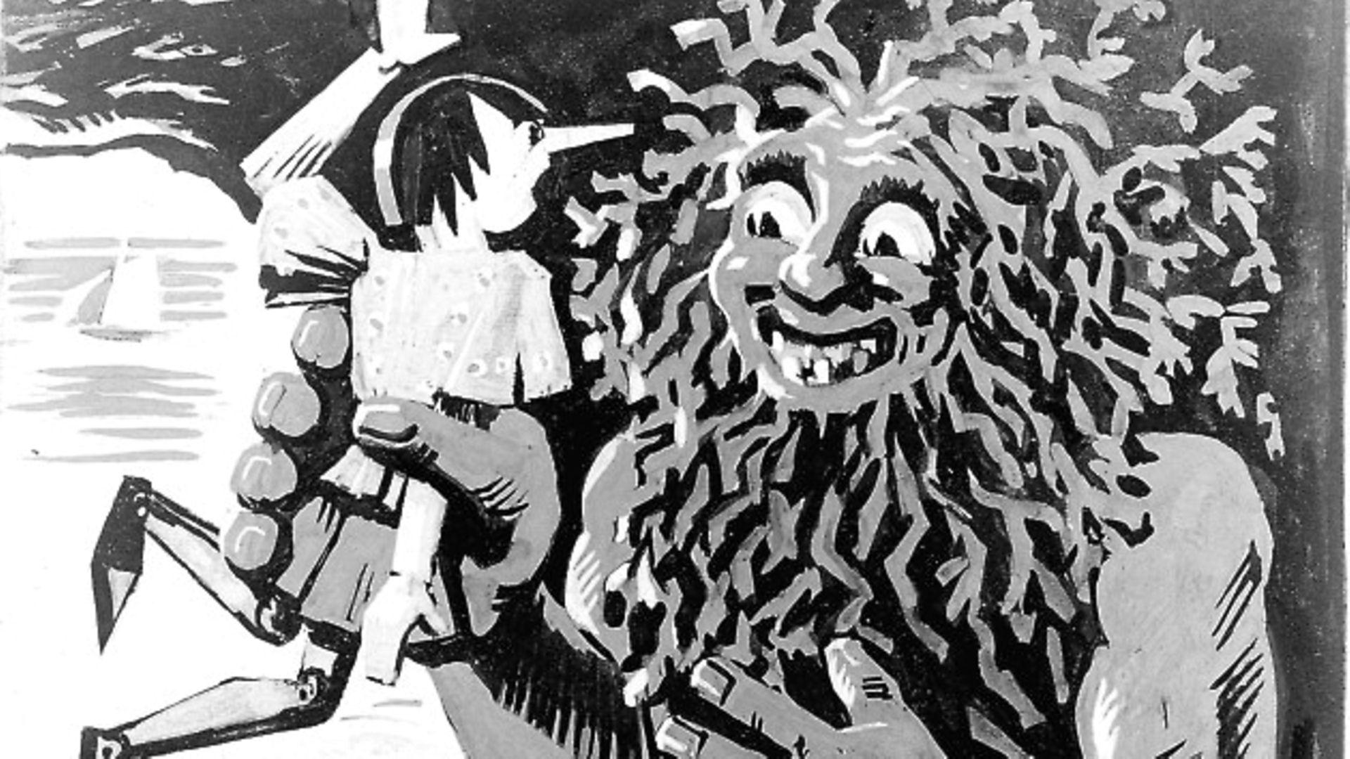 "Illustration for Carlo Collodi's ""Pinocchio"" by Rob d'Ac. - Credit: Roger-Viollet / Topfoto"