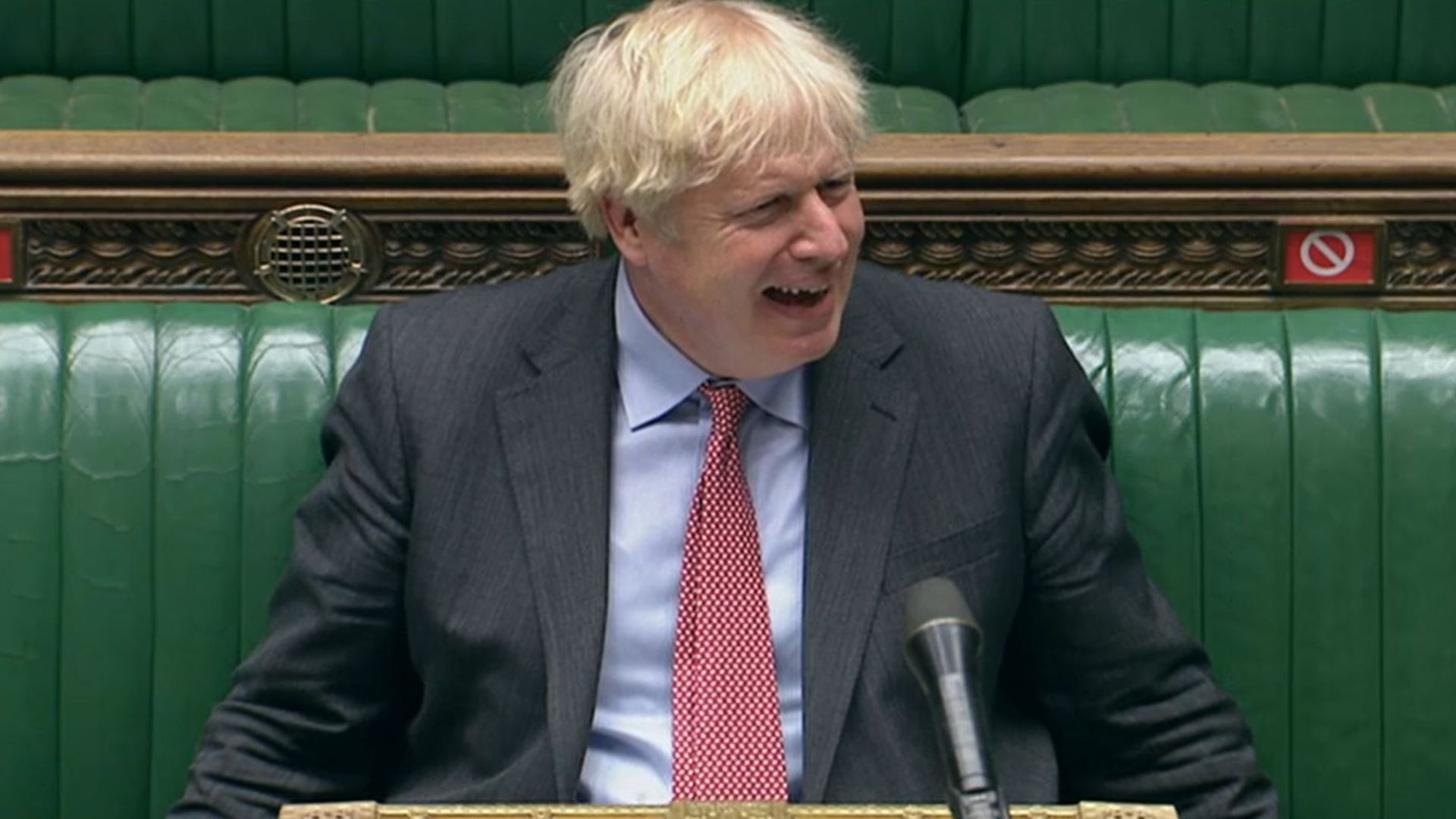 Prime Minister Boris Johnson during Prime Minister's Questions in the House of Commons, London. - Credit: PA