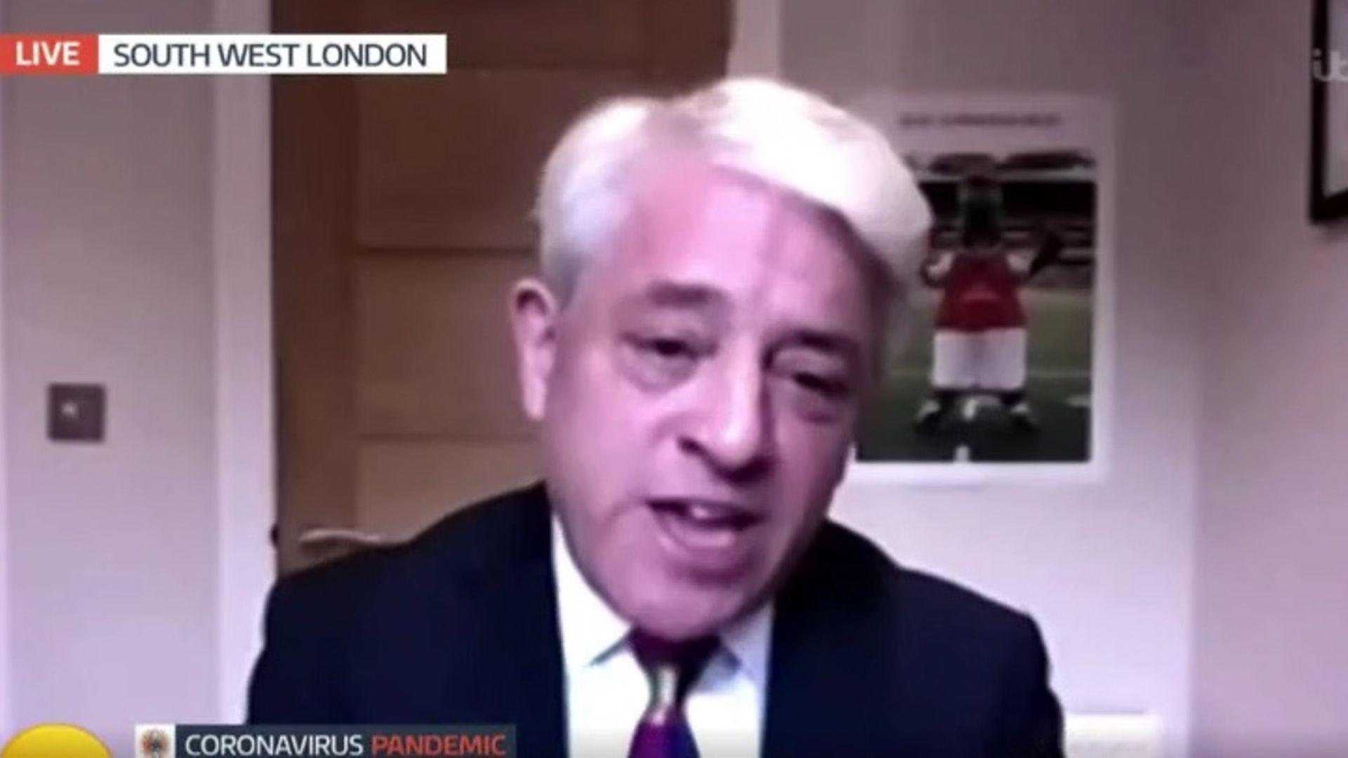John Bercow appears on Good Morning Britain - Credit: ITV