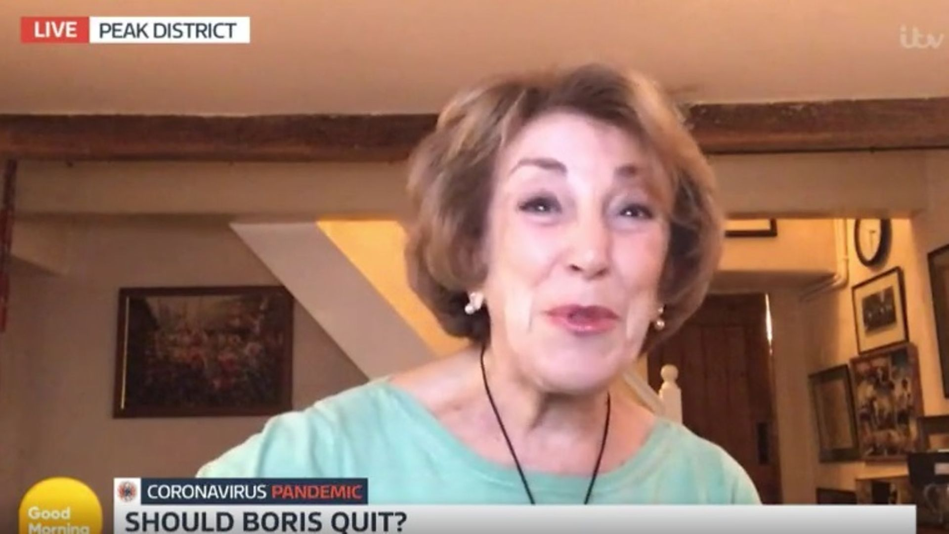 Edwina Currie tried to goad Piers Morgan on Good Morning Britain - Credit: ITV