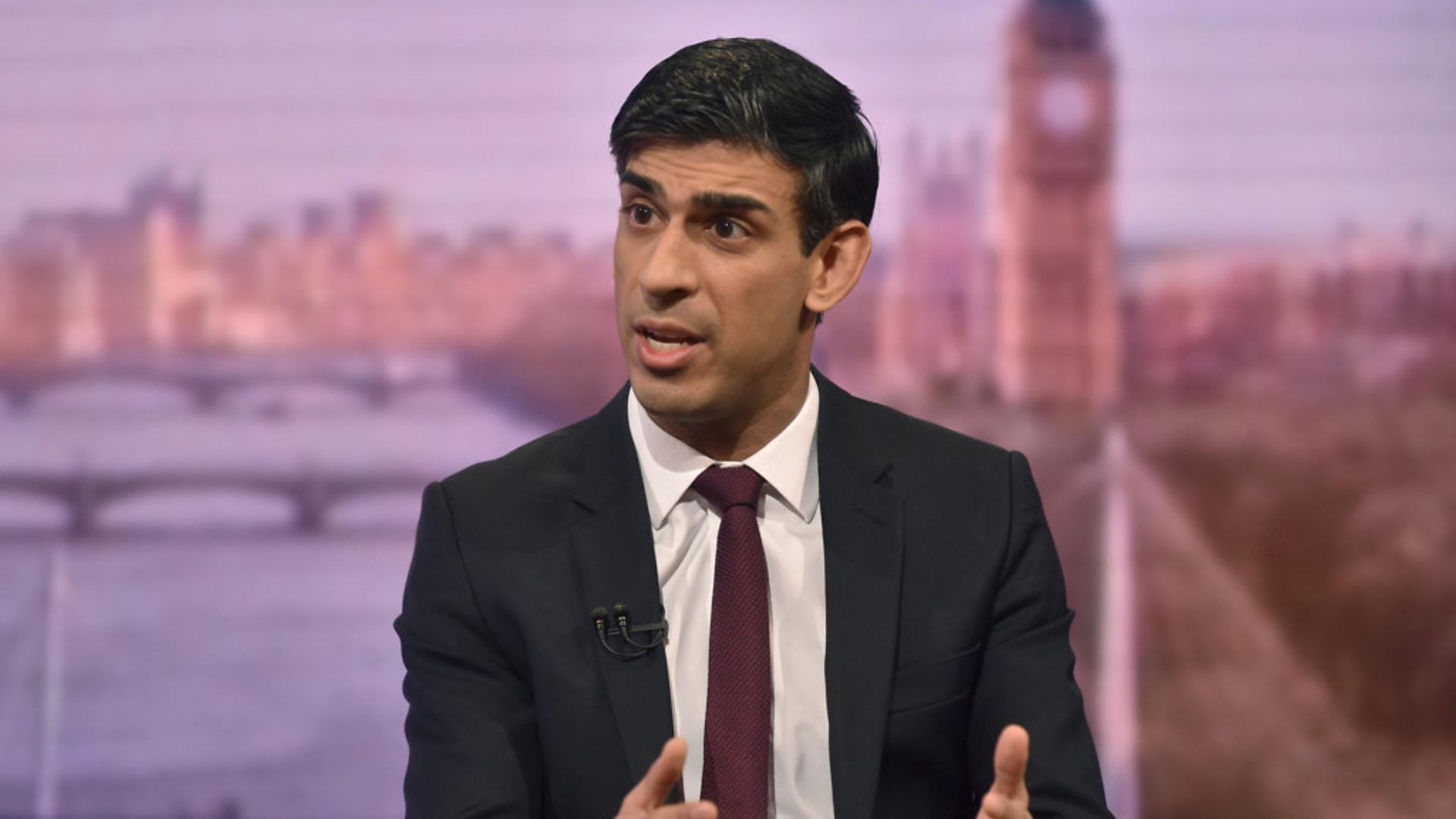 Chancellor Rishi Sunak on the Andrew Marr show - Credit: PAJeff Overs/BBC/PA Wire