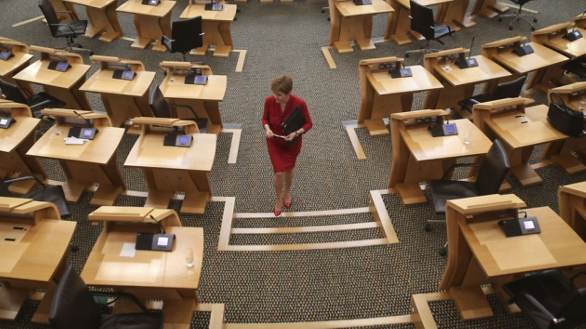 First Minister Nicola Sturgeon attends First Minister's Questions at the Scottish Parliament Holyrood on August 26, 2020 in Edinburgh, Scotland. (Photo by Fraser Bremner - Pool/Getty Images) - Credit: Fraser Bremner - Pool/Getty Images