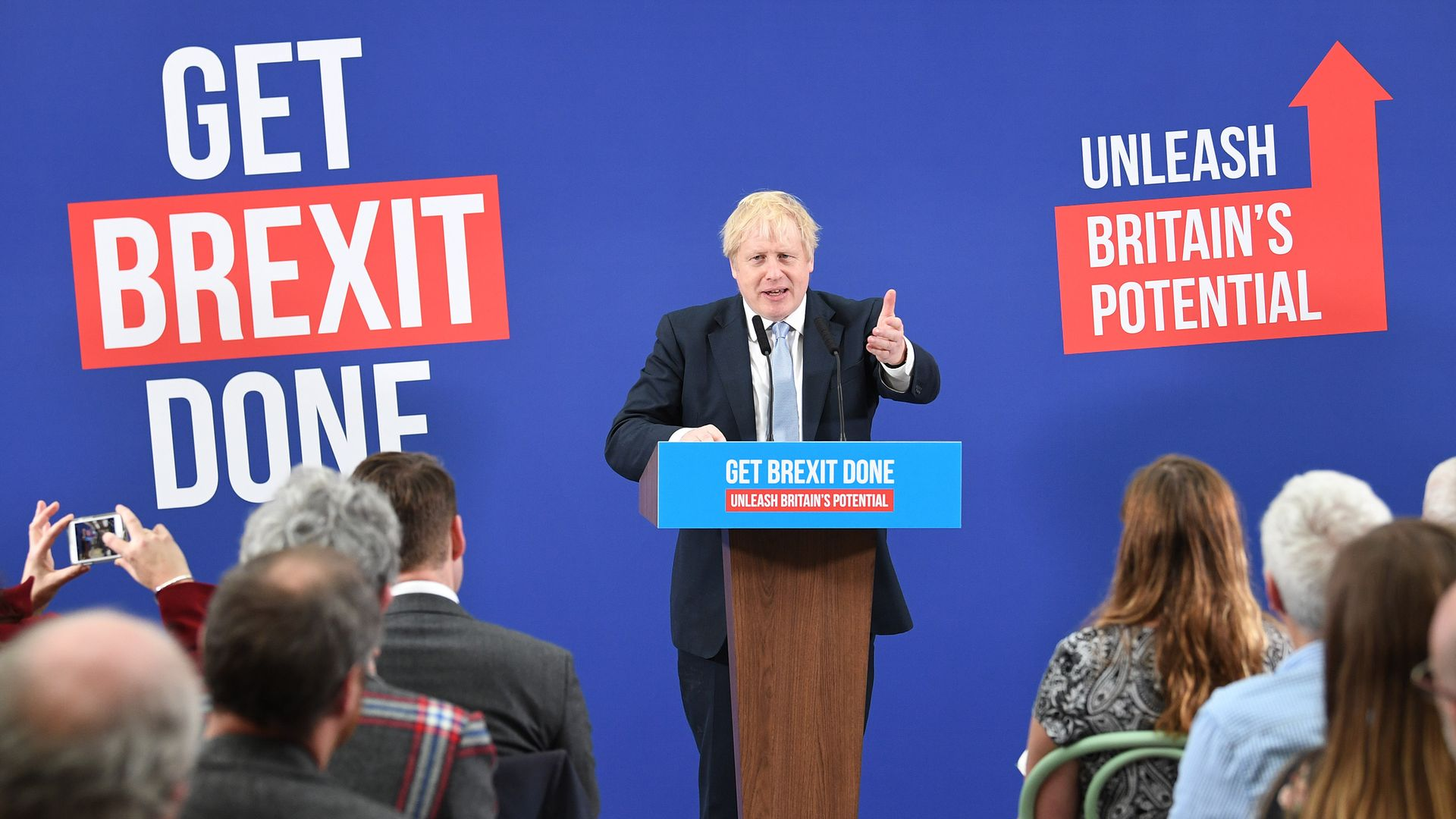 Prime minister Boris Johnson on the 2019 general election trail - Credit: PA