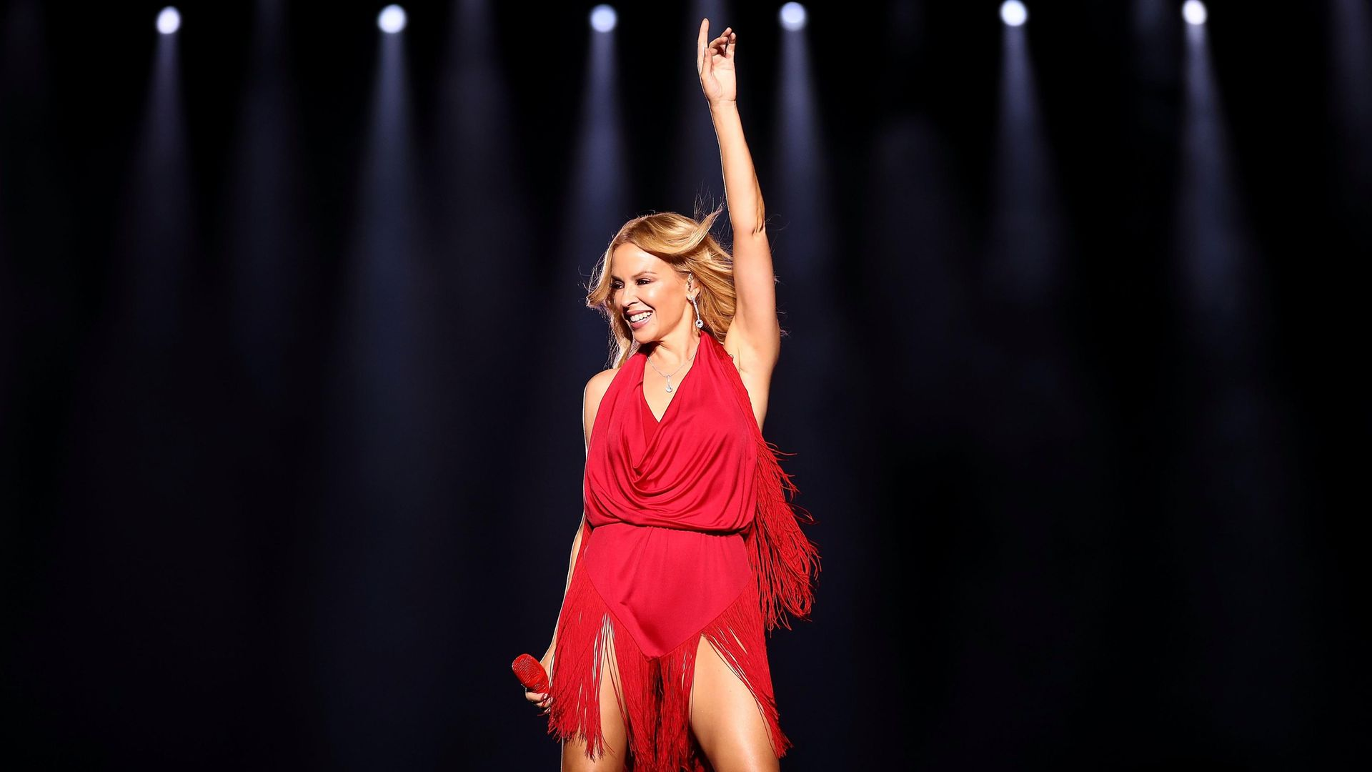 Defying Expectations: Kylie Minogue on stage in Singapore in 2016 - Credit: Getty Images