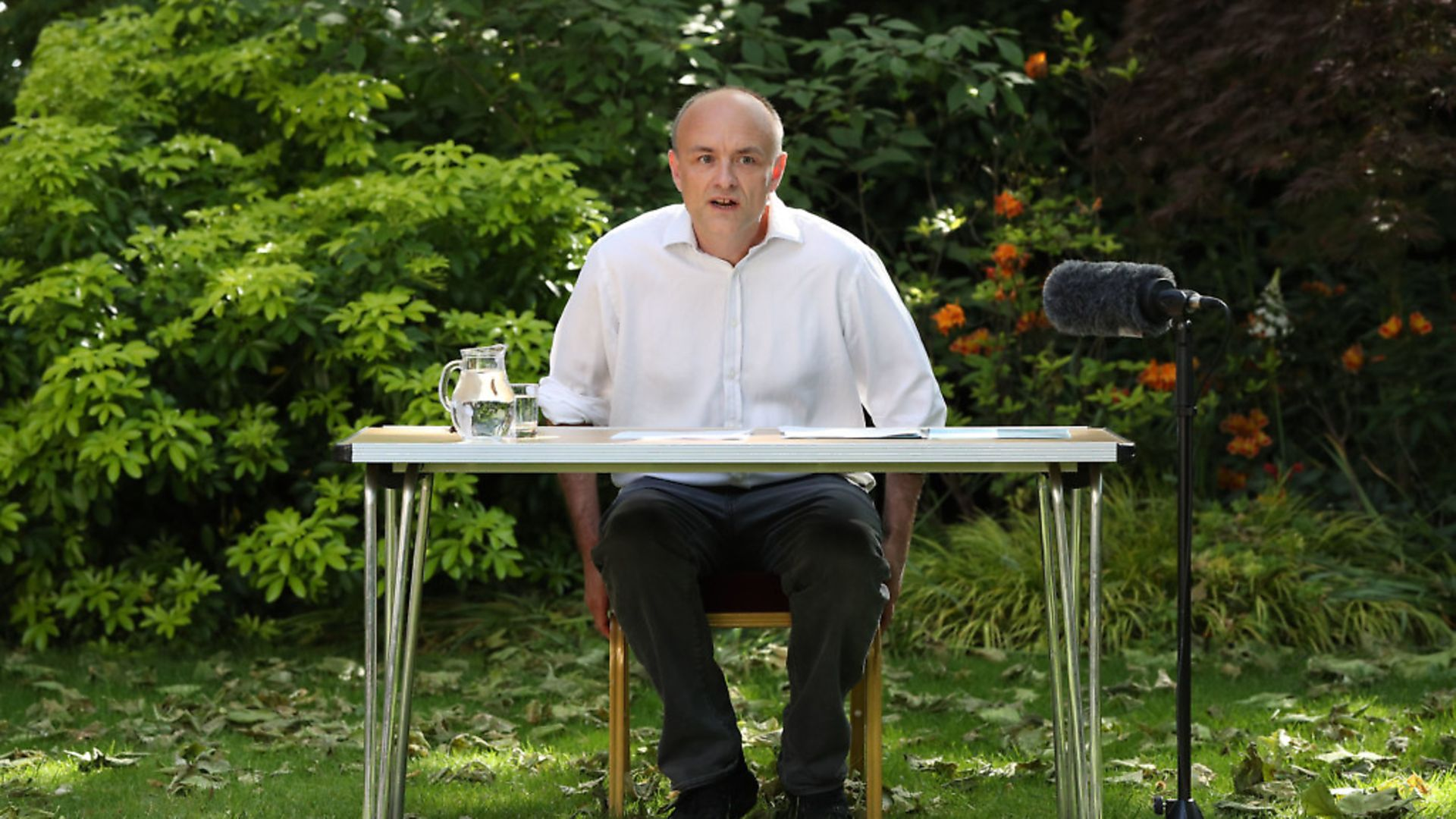 Number 10 special advisor Dominic Cummings speaks as he delivers a statement in the Rose Garden at 10 Downing Street. (Photo by JONATHAN BRADY/POOL/AFP via Getty Images) - Credit: POOL/AFP via Getty Images
