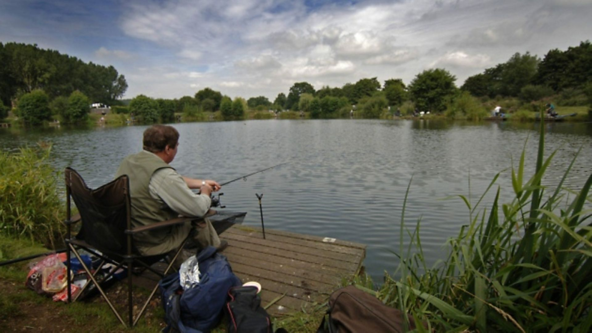 A fisherman pictured at Barford lakes - Credit: Antony Kelly