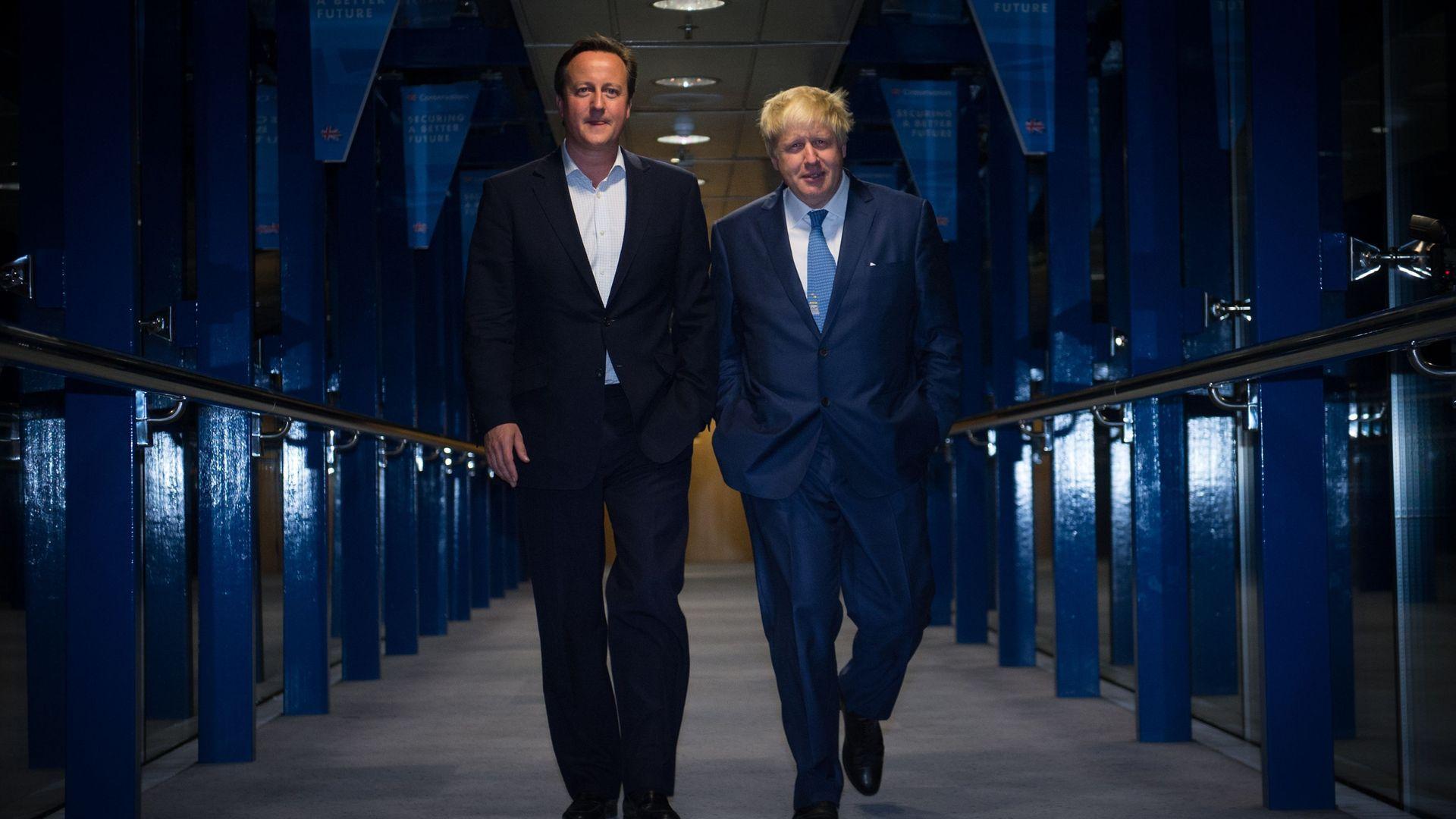 David Cameron (left) and Boris Johnson - Credit: PA