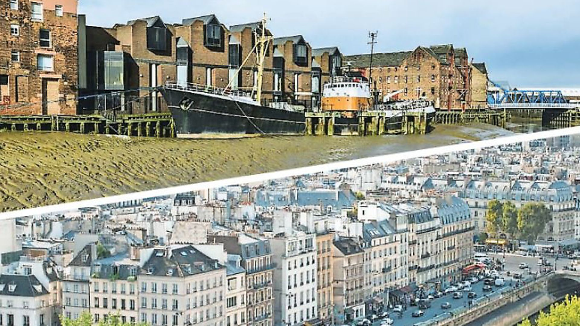 Top, Hulls riverside. Bottom, a view of Paris from Notre-Dame roof - Credit: Archant