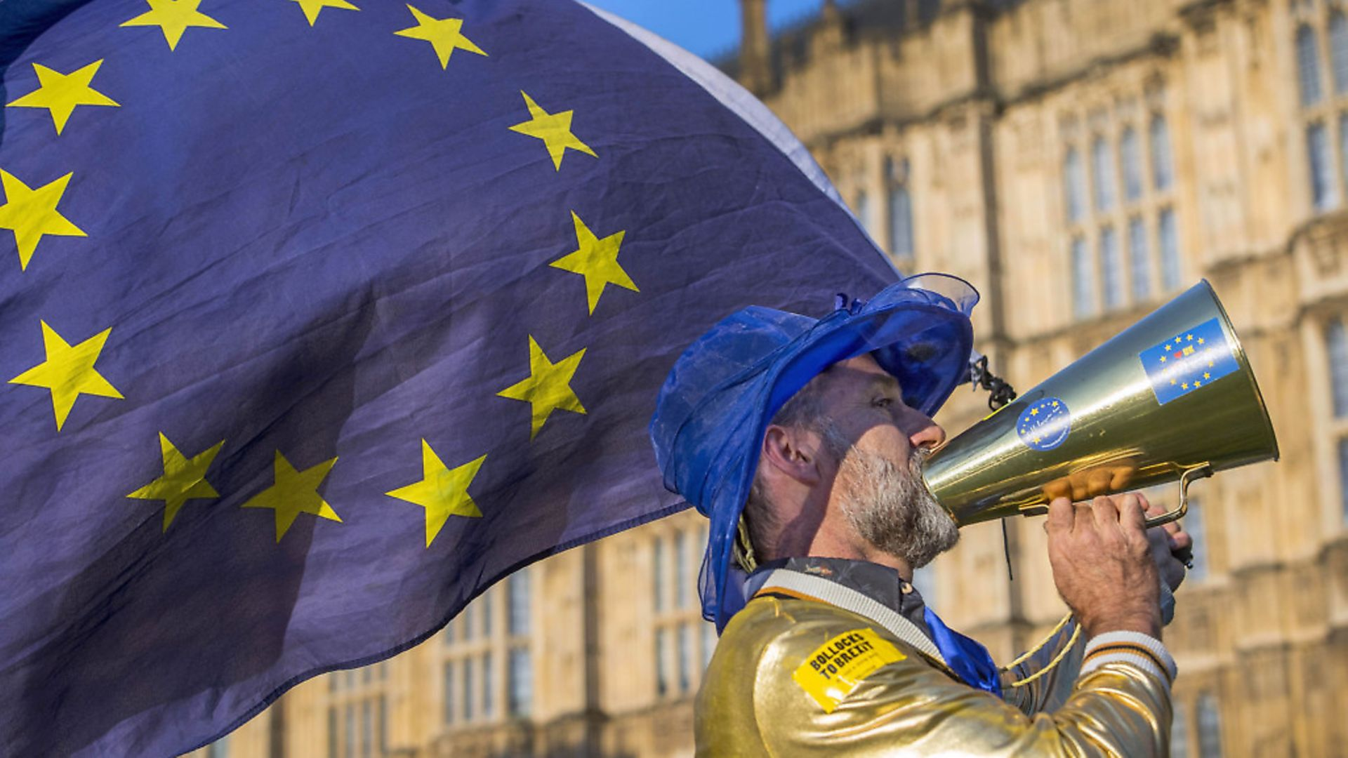 Pro-European Union and anti-Brexit demonstrators protest outside the Houses of Parliament in central London, as the Commons debate on the European Union (Withdrawal) Bill takes place.Picture: PA/Victoria Jones - Credit: PA Wire/PA Images