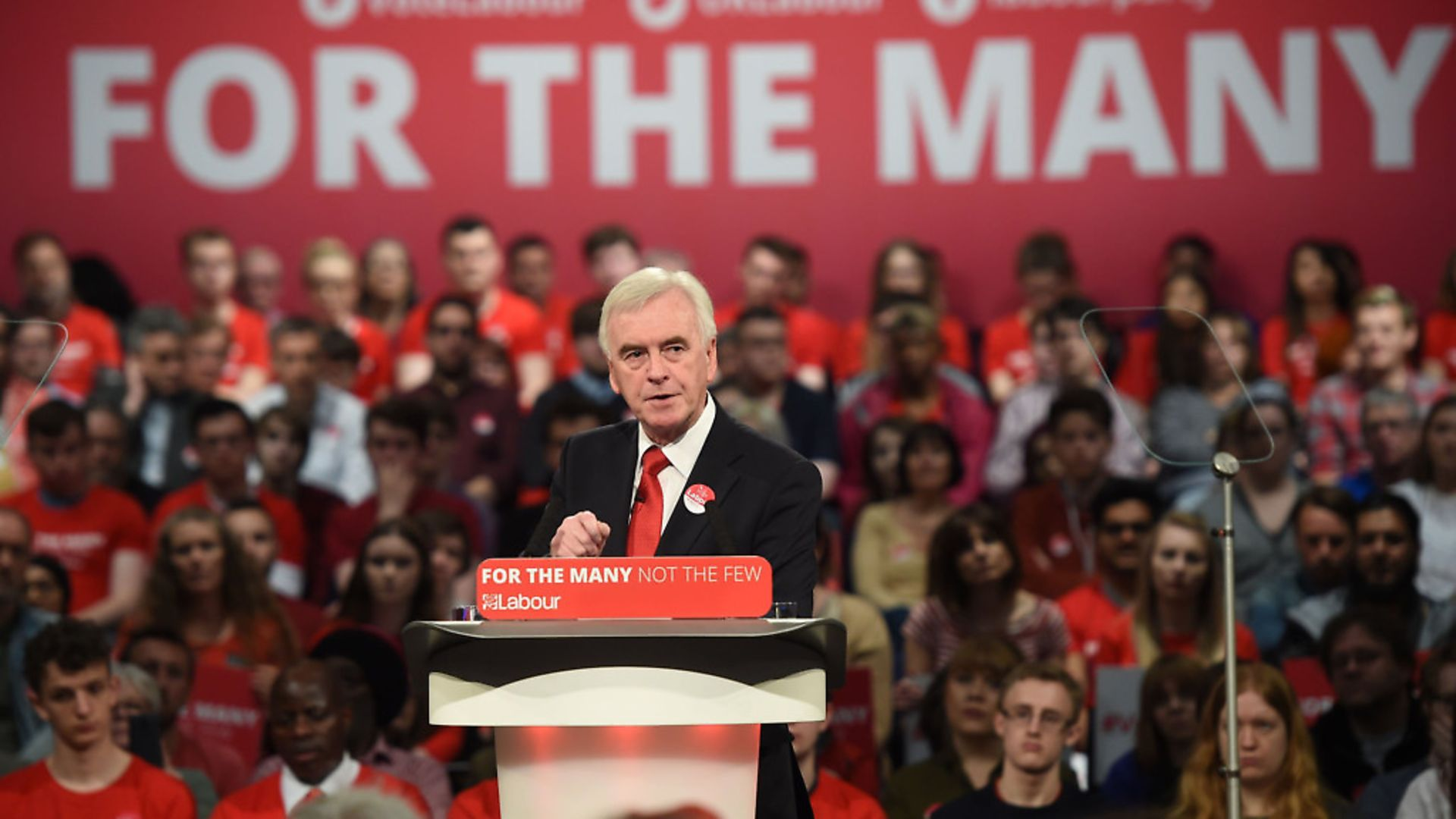 Shadow chancellor John McDonnell addresses supporters during a General Election campaign event (Photograph: Joe Giddens/PA) - Credit: PA Wire/PA Images