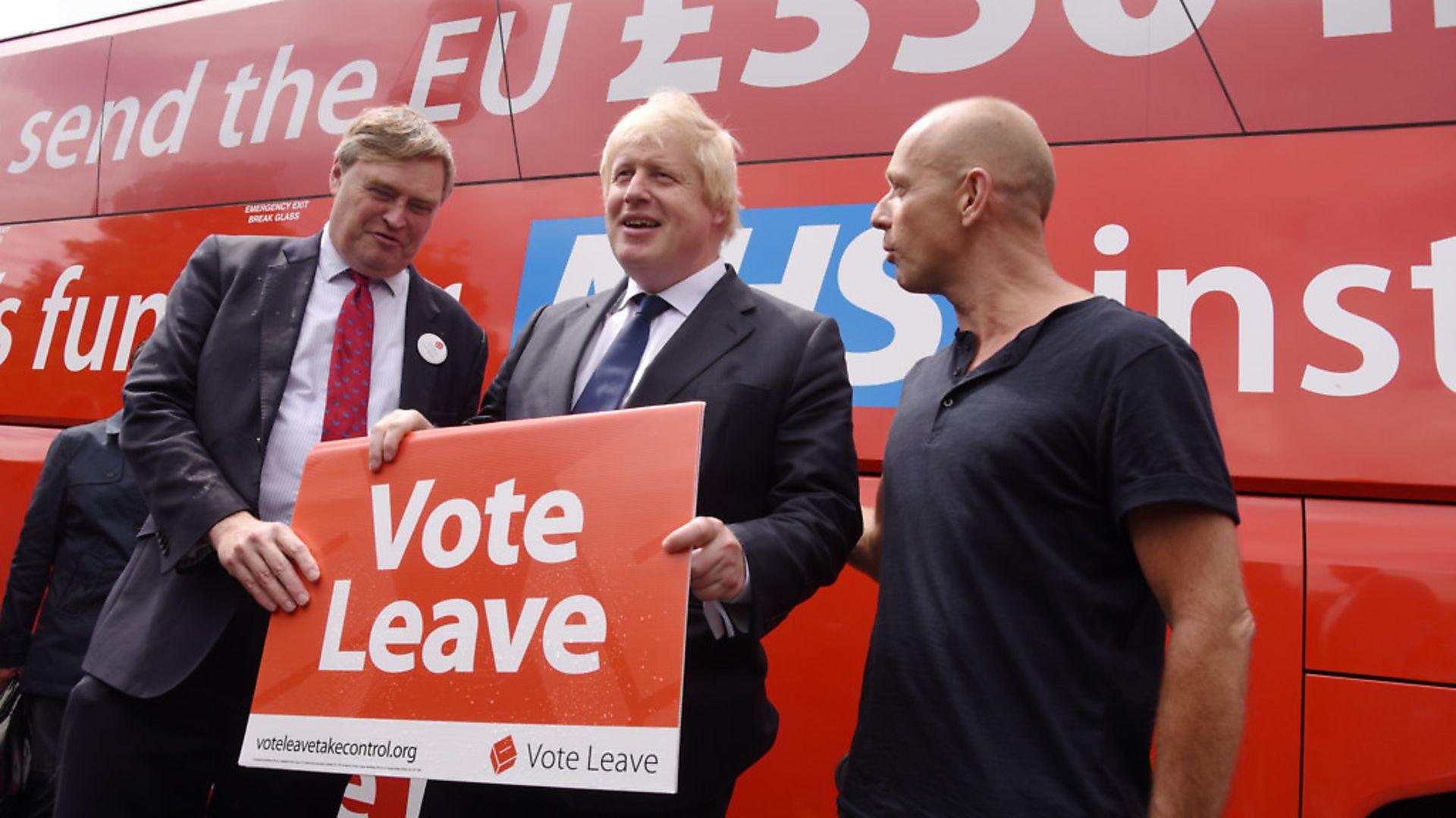 Boris Johnson in Norfolk, pictured with Steve Hilton. Photo : Steve Adams - Credit: Steve Adams