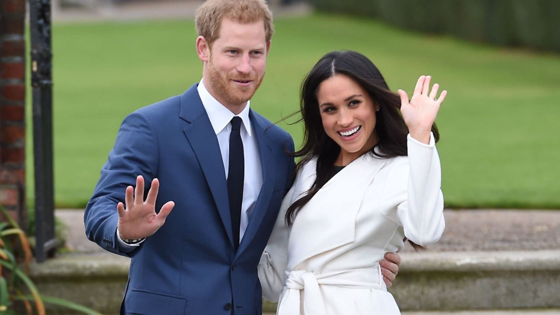 Prince Harry and Meghan Markle in the Sunken Garden at Kensington Palace, London, after the announcement of their engagement. Picture: PA - Credit: PA Wire/PA Images