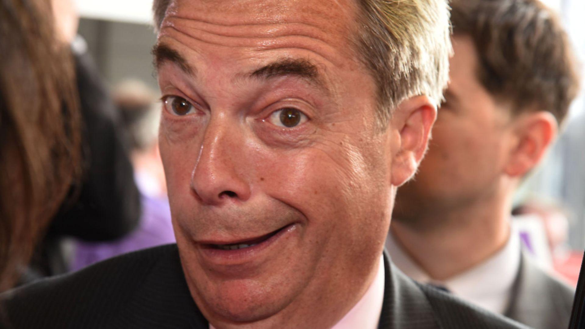 Nigel Farage in Dagenham Heathway. Picture: Ken Mears - Credit: Archant