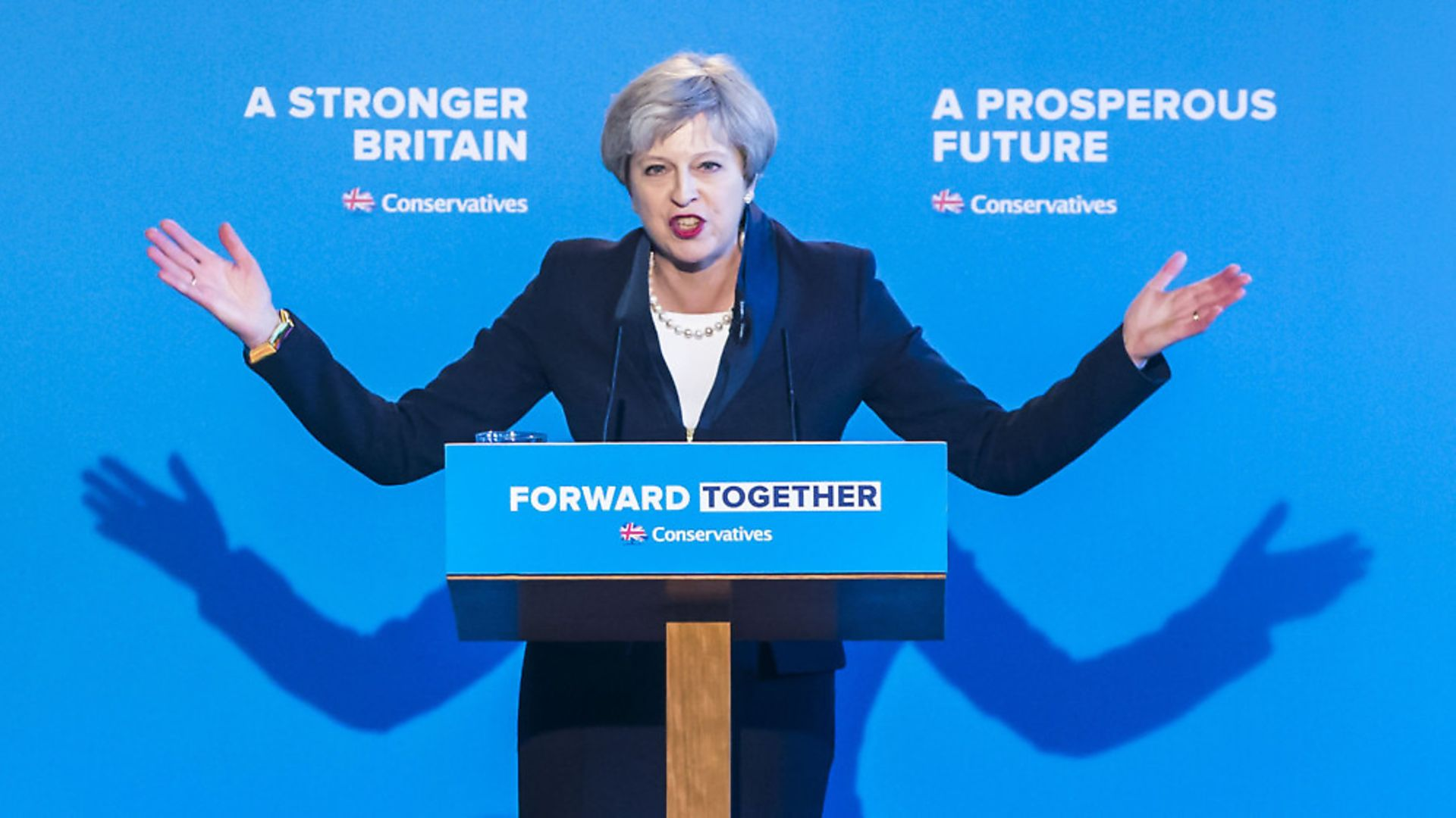 Theresa May during the 2017 General Election campaign. Photograph: Danny Lawson/PA. - Credit: PA Wire/PA Images
