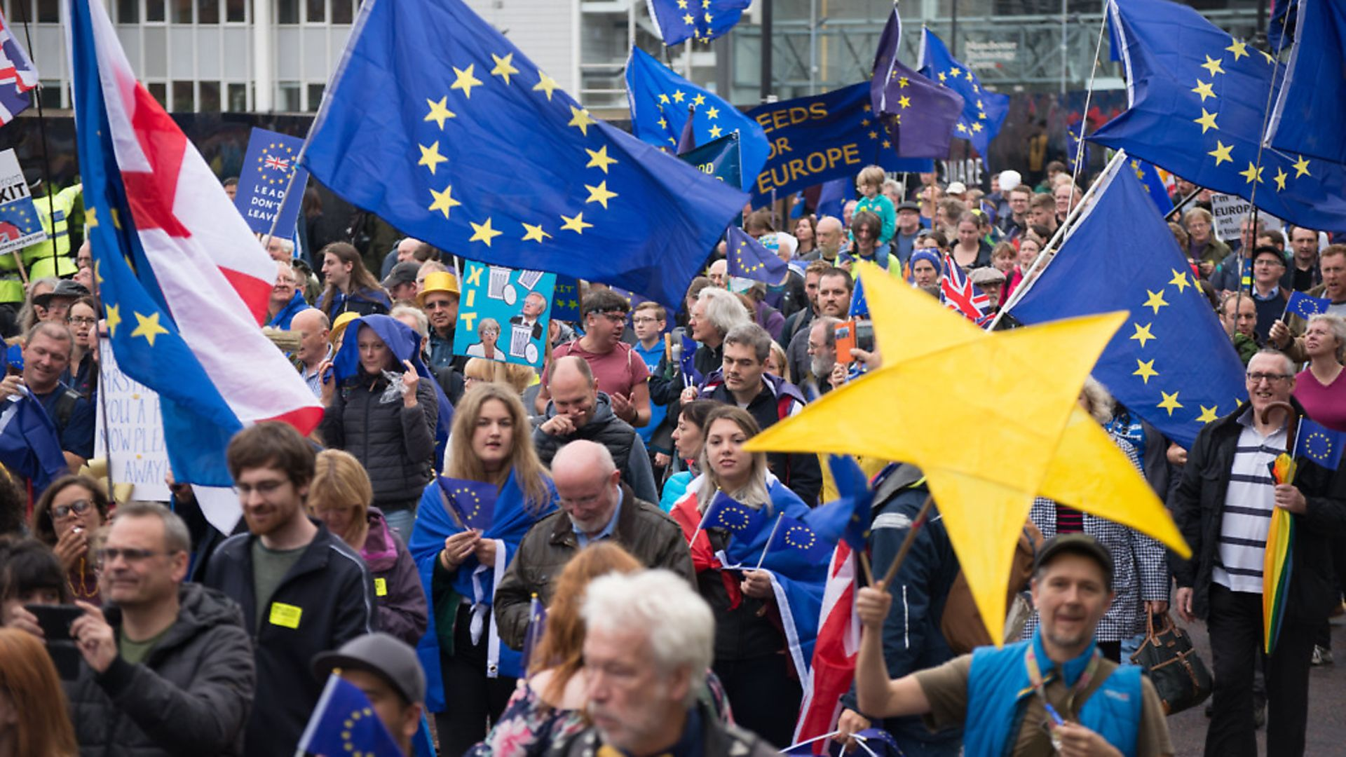 A 'Stop Brexit' protest in Manchester in 2017. Photo by Jonathan Nicholson/NurPhoto/Sipa USA. - Credit: SIPA USA/PA Images