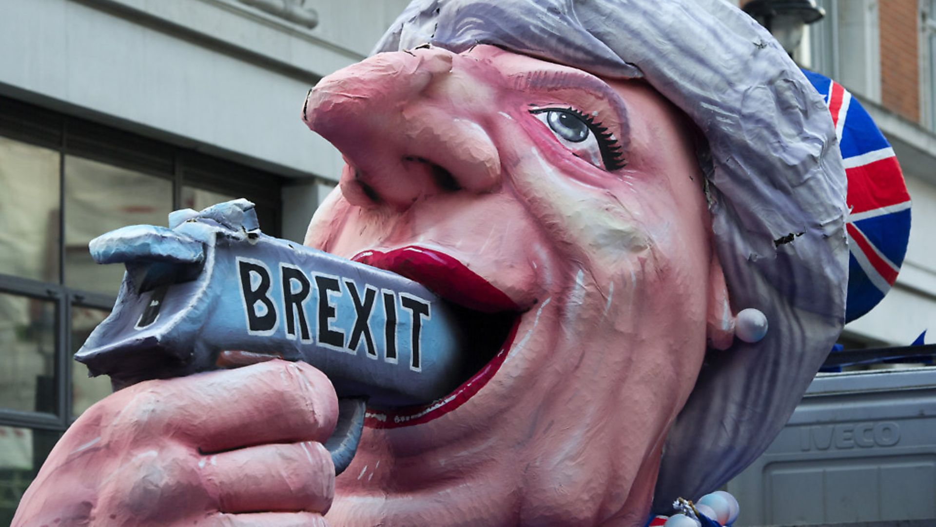 An anti-Brexit protest outside the BBC as Theresa May appears on The One Show during the 2017 General Election.  Photograph: Ben Stevens/PA. - Credit: PA Wire/PA Images