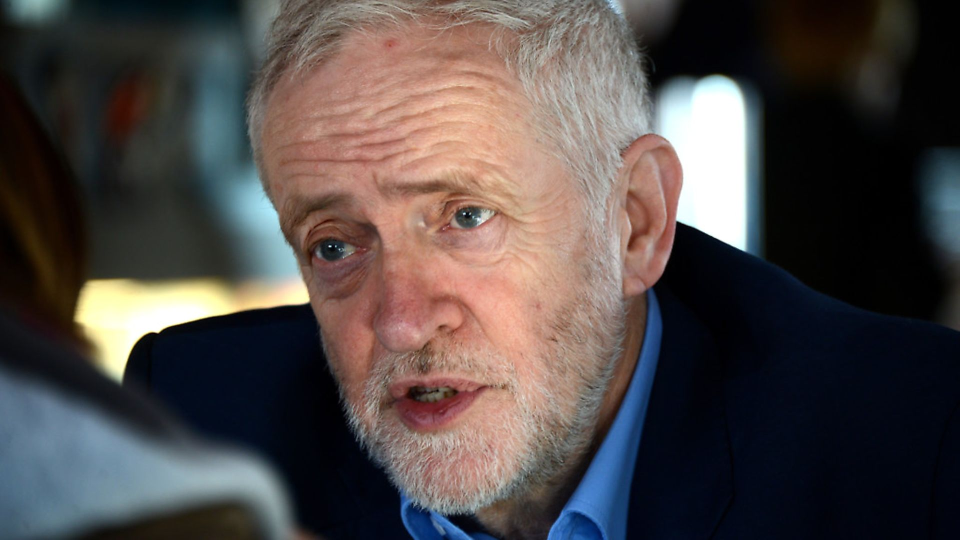 The Labour leader Jeremy Corbyn speaking to The New European. Photograph: Antony Kelly. - Credit: Archant