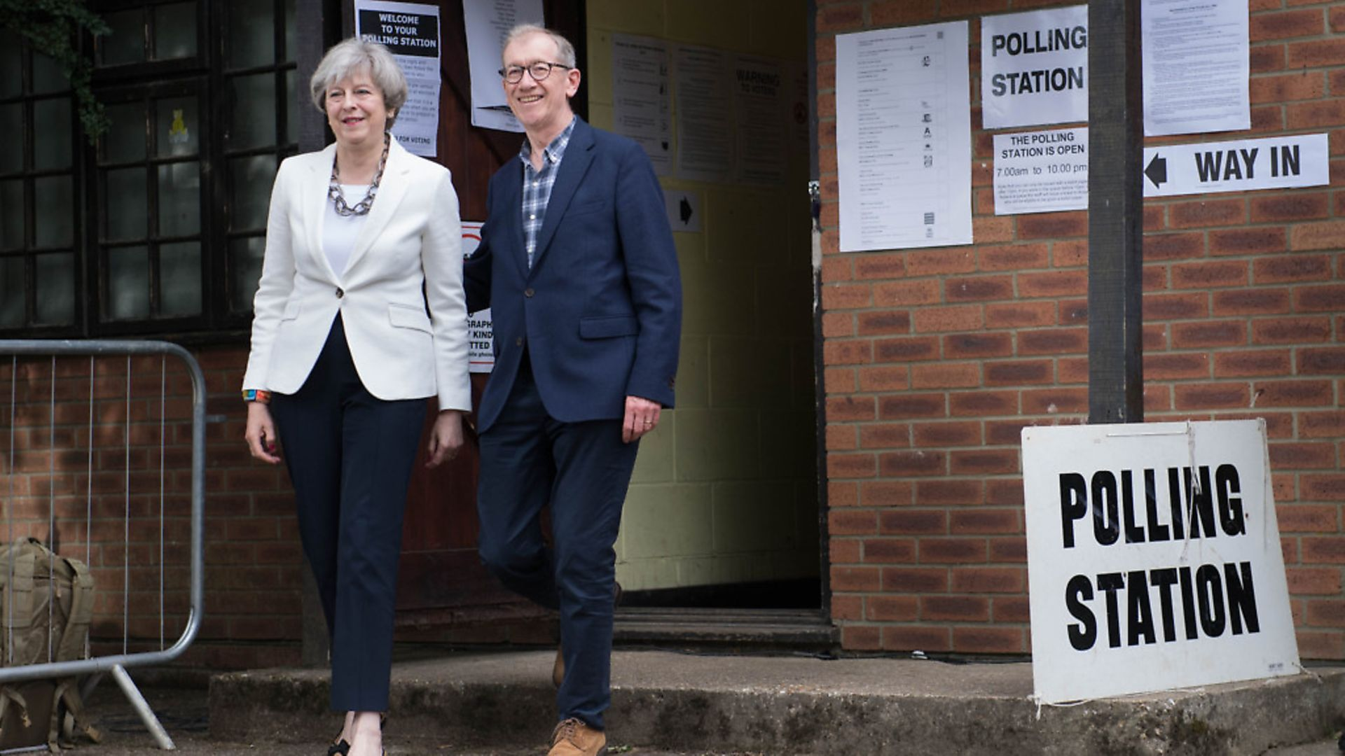 Prime Minister Theresa May casts her vote in Sonning, Berkshire in the 2017 General Election. Photograph: Stefan Rousseau/PA. - Credit: PA Wire/PA Images