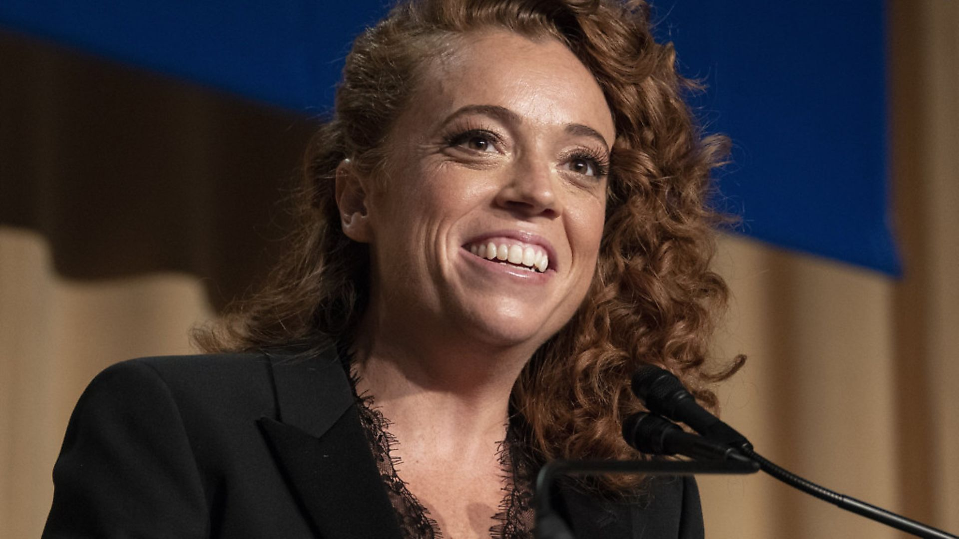 Michelle Wolf at the 2018 White House Correspondents Association Annual Dinner at the Washington Hilton Hotel. Photo by Ron Sachs/CNP/ABACAPRESS.COM - Credit: ABACA/PA Images