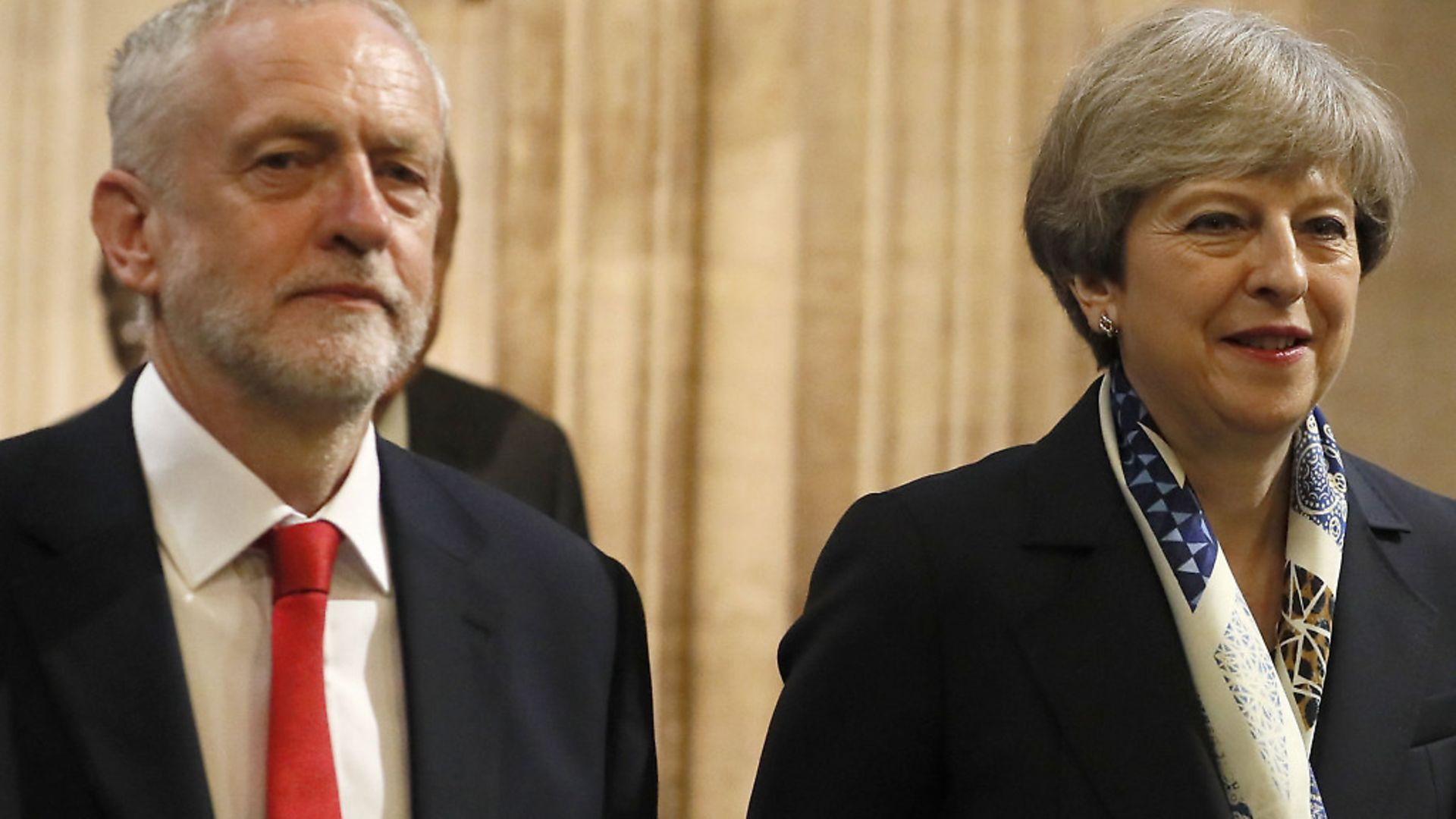 Theresa May and Jeremy Corbyn pictured last year at the state opening of Parliament. Picture: Kirsty Wigglesworth - Credit: PA Archive/PA Images