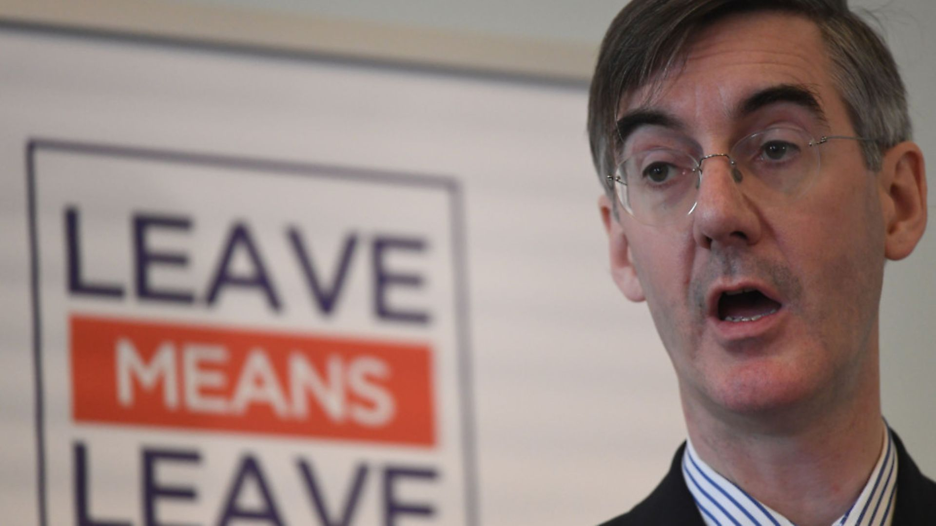 Conservative MP Jacob Rees-Mogg speaks about Brexit at a Leave Means Leave event at Carlton House Terrace, London. - Credit: PA Wire/PA Images