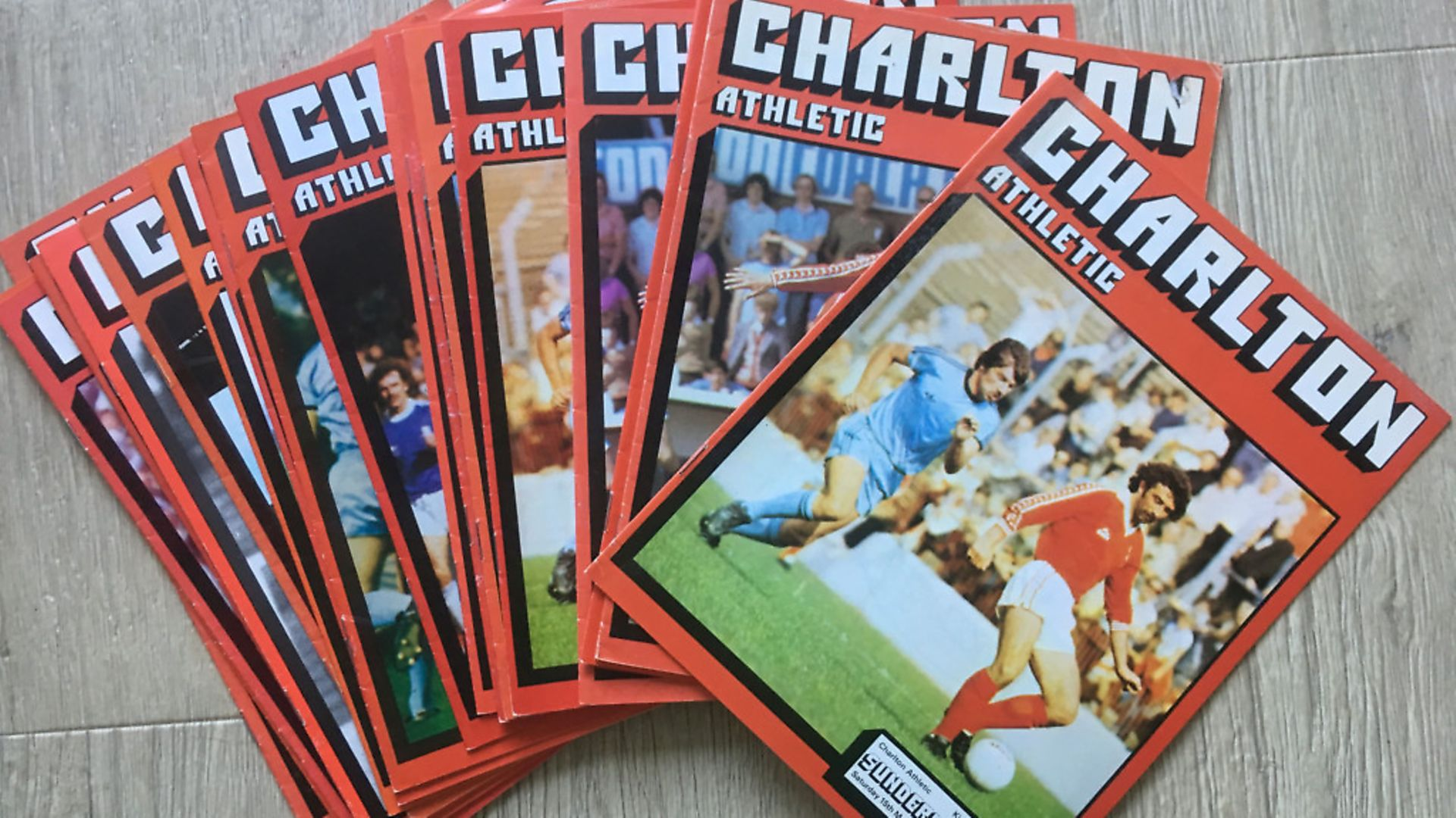 Charlton football magazines. Picture: Archant - Credit: Archant