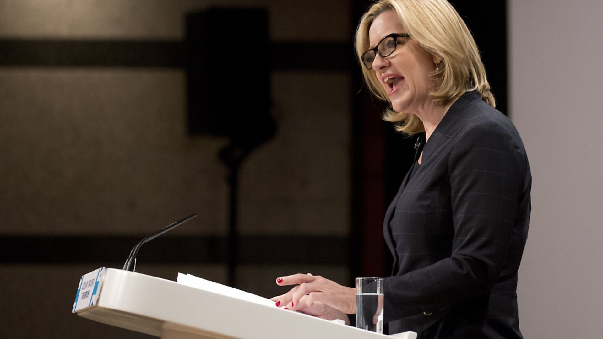 Amber Rudd at Conservative Party Conference in Birmingham. Photograph: Isabel Infantes/PA. - Credit: EMPICS Entertainment