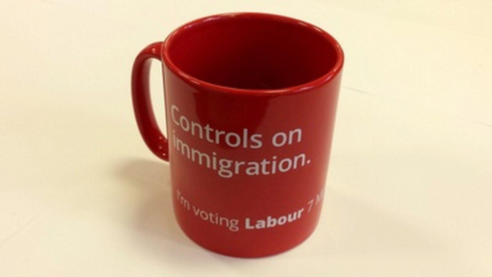 Labour's mug on immigration - Credit: Archant
