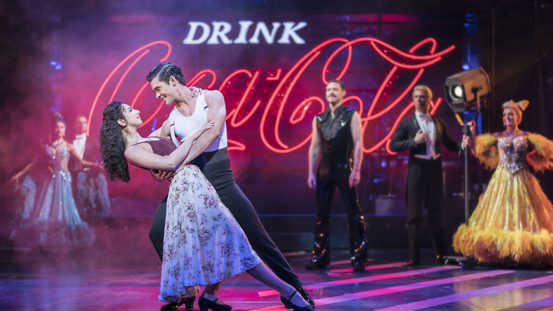 Zizi Strallen and Jonny Labey trip the light fantastic. Picture: Johna Persson - Credit: Archant