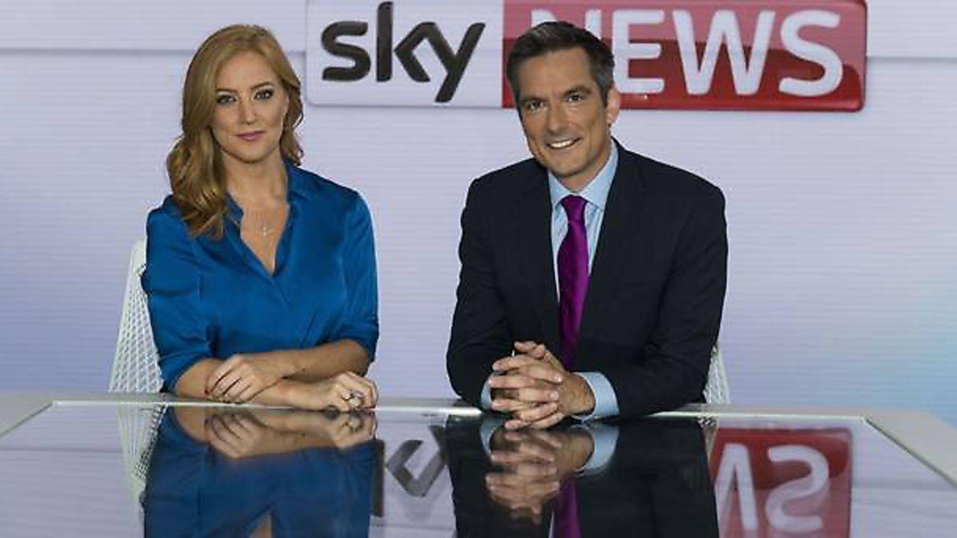 Sky News' Sarah-Jane Mee and Jonathan Samuels (Photograph: Sky/PA) - Credit: Archant