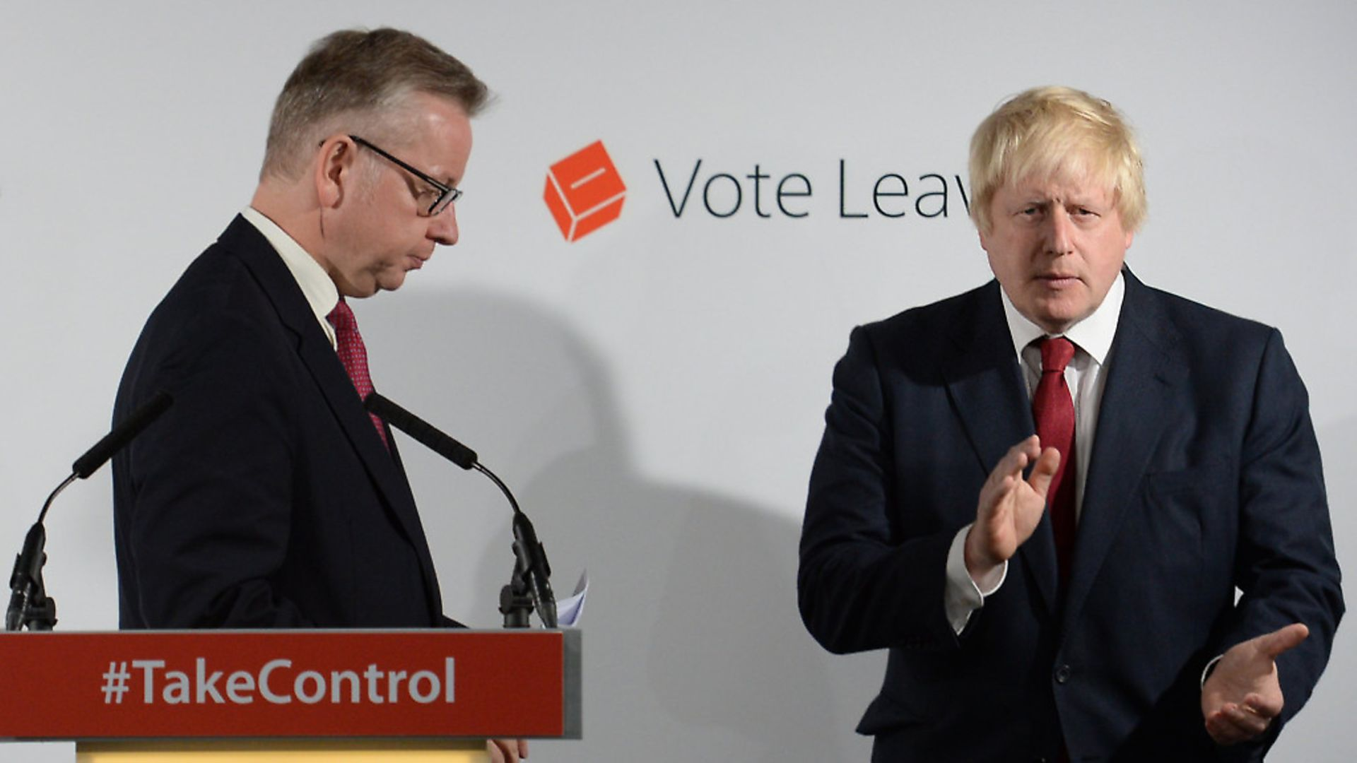Michael Gove and Boris Johnson in the wake of the Brexit vote. Photograph: Stefan Rousseau. - Credit: PA Archive/PA Images