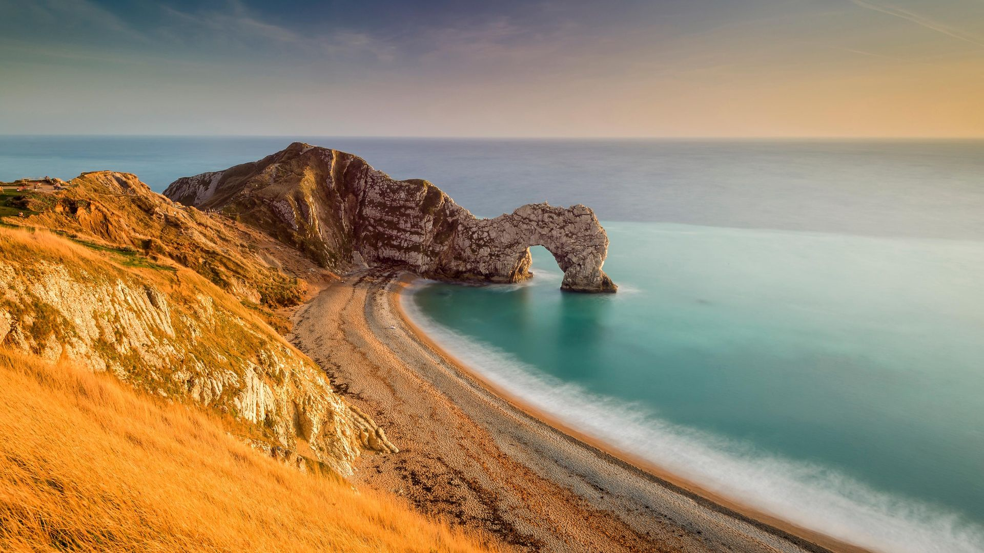 Durdle Door in Dorset - the last place John Keats stood on British soil - Credit: Universal Images Group via Getty
