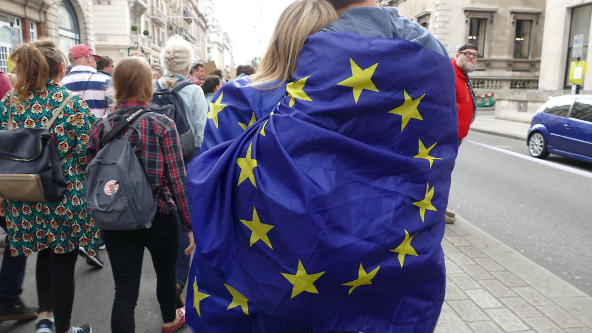 A photograph from one of the 'March for Europe' events. Photograph: NurPhoto. - Credit: SIPA USA/PA Images