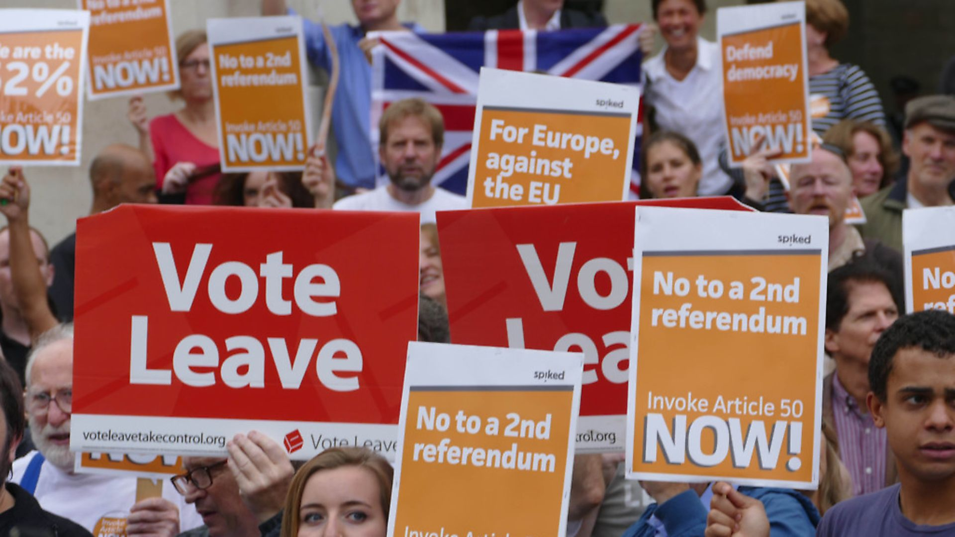 Pro-Brexit demonstration in London. Photograph: NurPhoto. - Credit: SIPA USA/PA Images