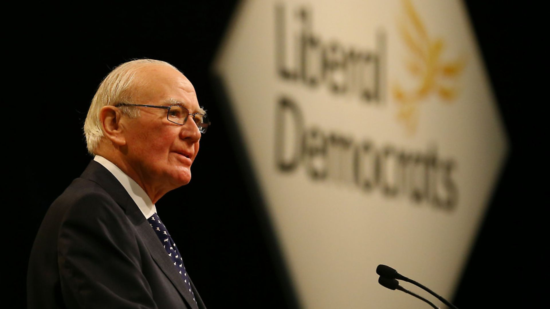Sir Menzies Campbell delivers a speech, during a debate on Europe, on the third day of the Liberal Democrats Autumn Conference Photo: PA - Credit: PA Archive/PA Images