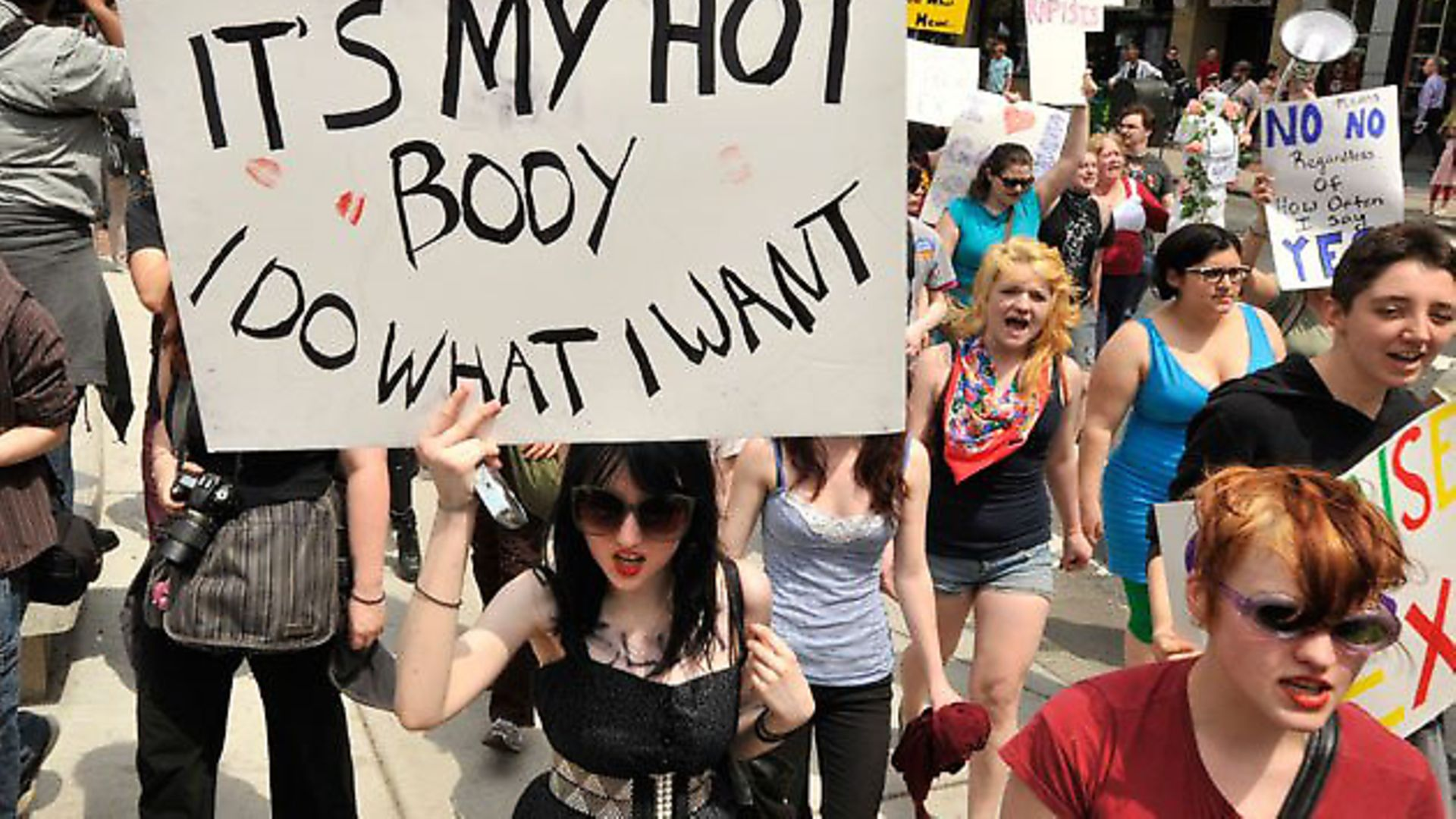 Feminist protesters during the SlutWalk protest last year - Credit: Russ sourced this from google