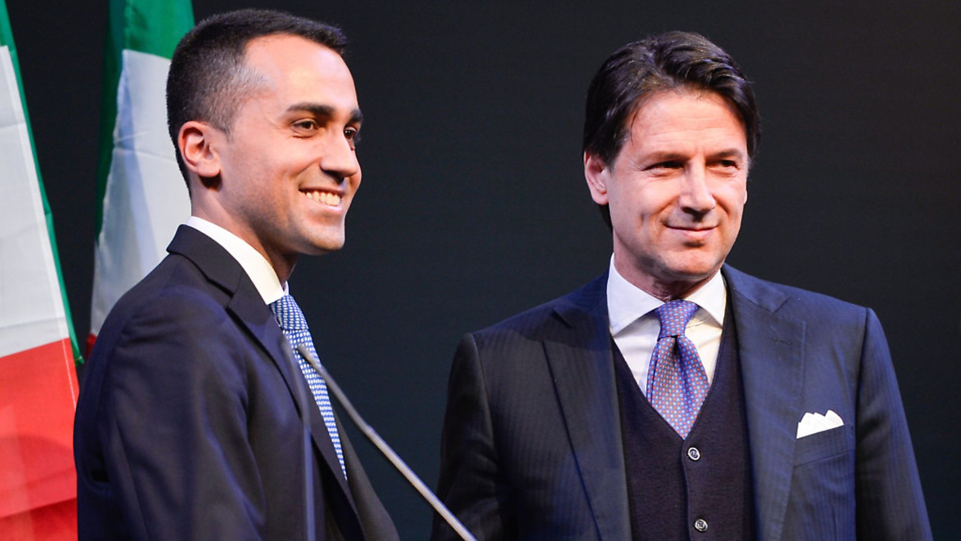 Italian Premier Giuseppe Conte and Labour Minister Luigi Di Maio in Rome, Italy. (Photo by Silvia Lore/NurPhoto/Sipa USA) - Credit: SIPA USA/PA Images