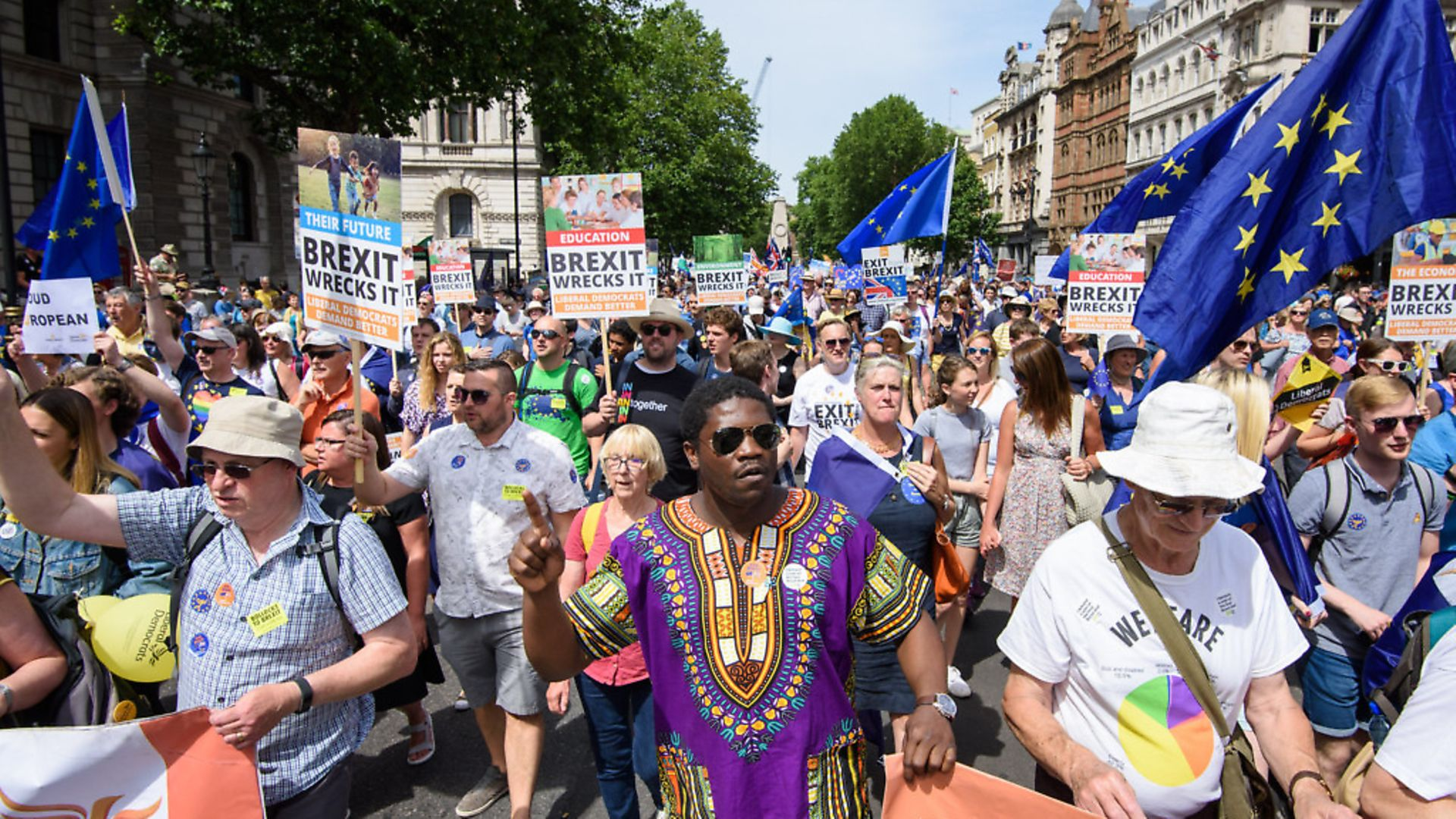 Not just a white, London-based middle class elite on The People's Vote march. Photo: Matt Crossick/ EMPICS Entertainment. - Credit: Empics Entertainment