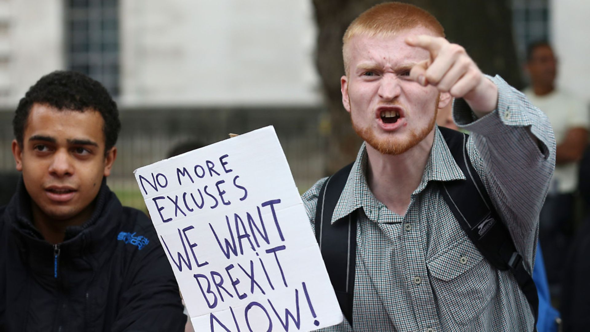 A pro-Brexit protester. Photograph: Justin Tallis/AFP/Getty Images. - Credit: AFP/Getty Images