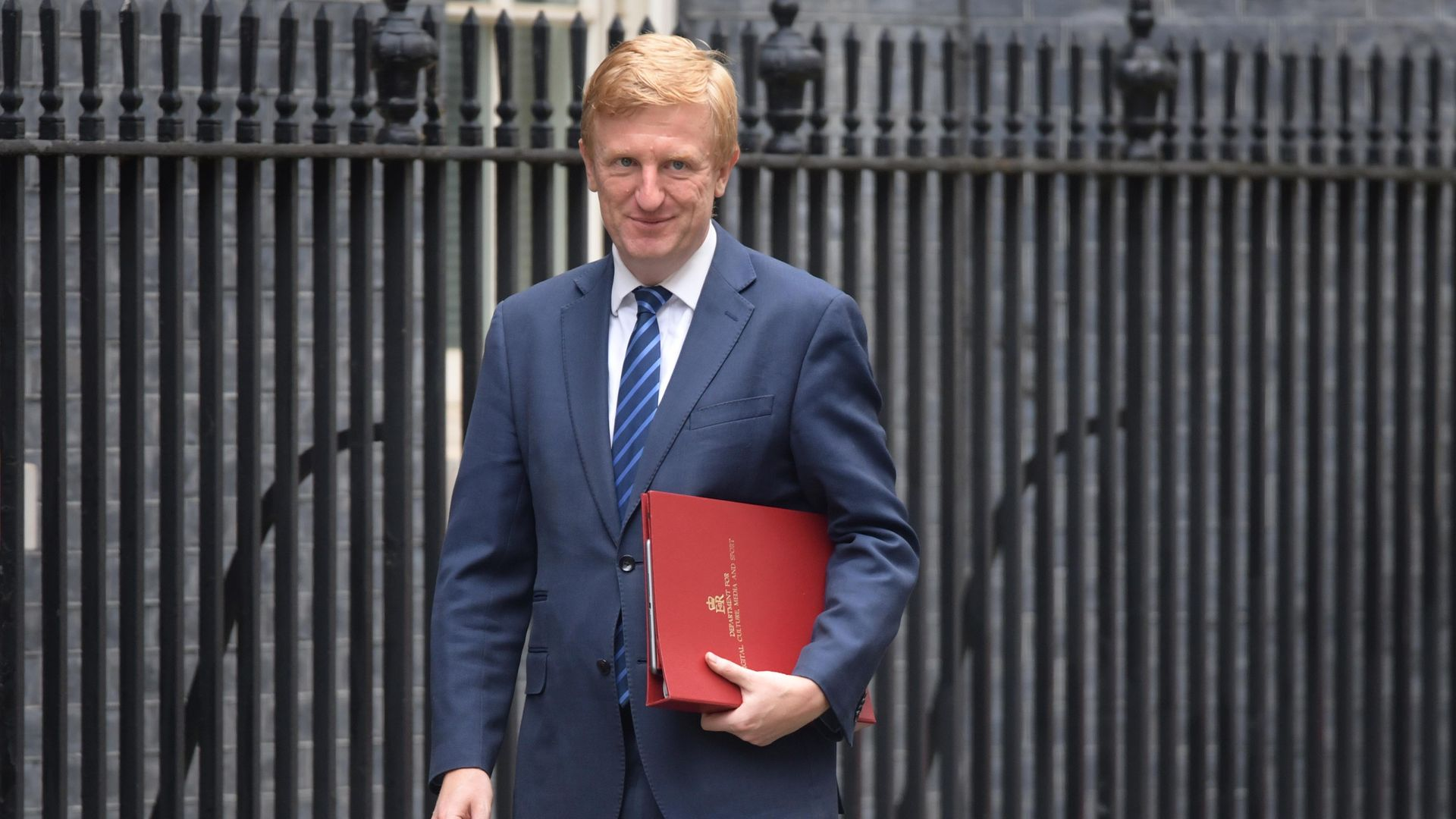 Culture, Media and Sport Secretary, Oliver Dowden in Downing Street in London. - Credit: PA
