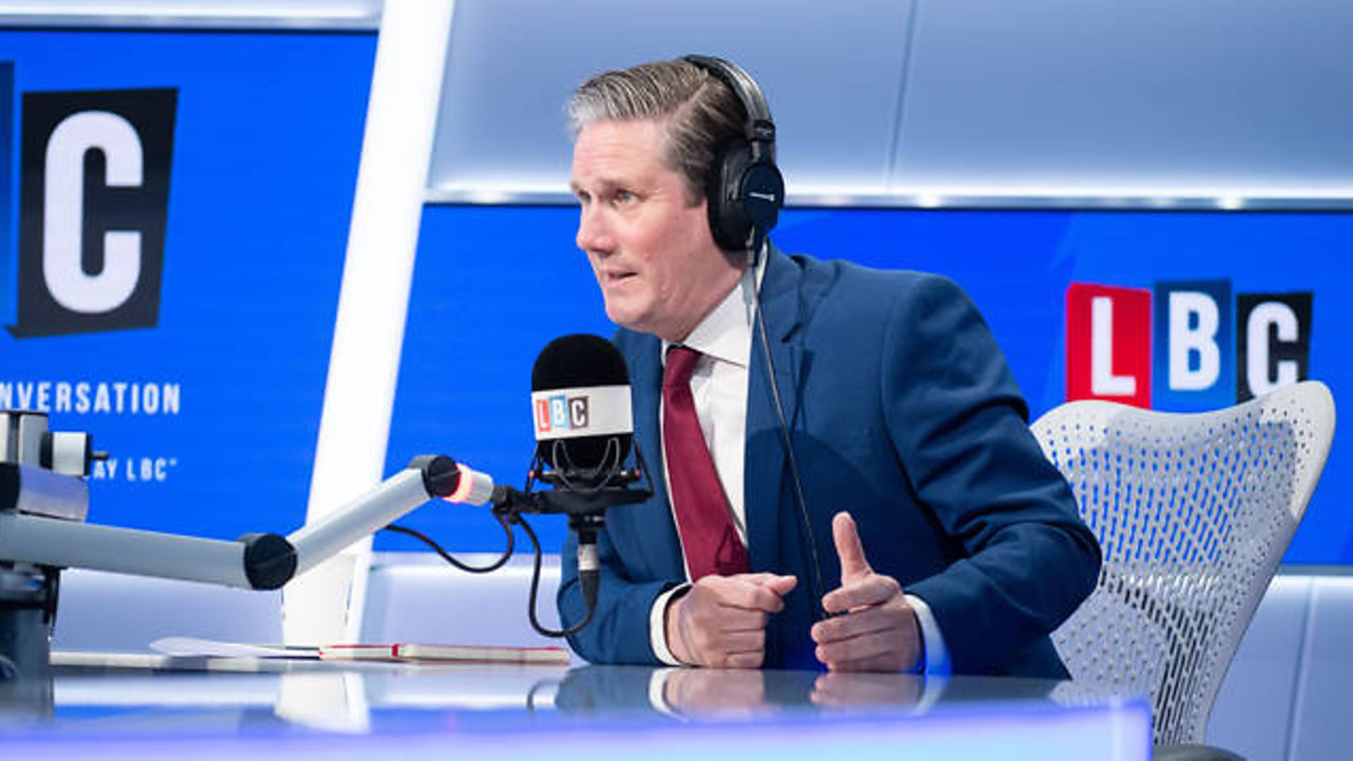 Labour leader Keir Starmer answers questions from Nick Ferrari - Credit: LBC