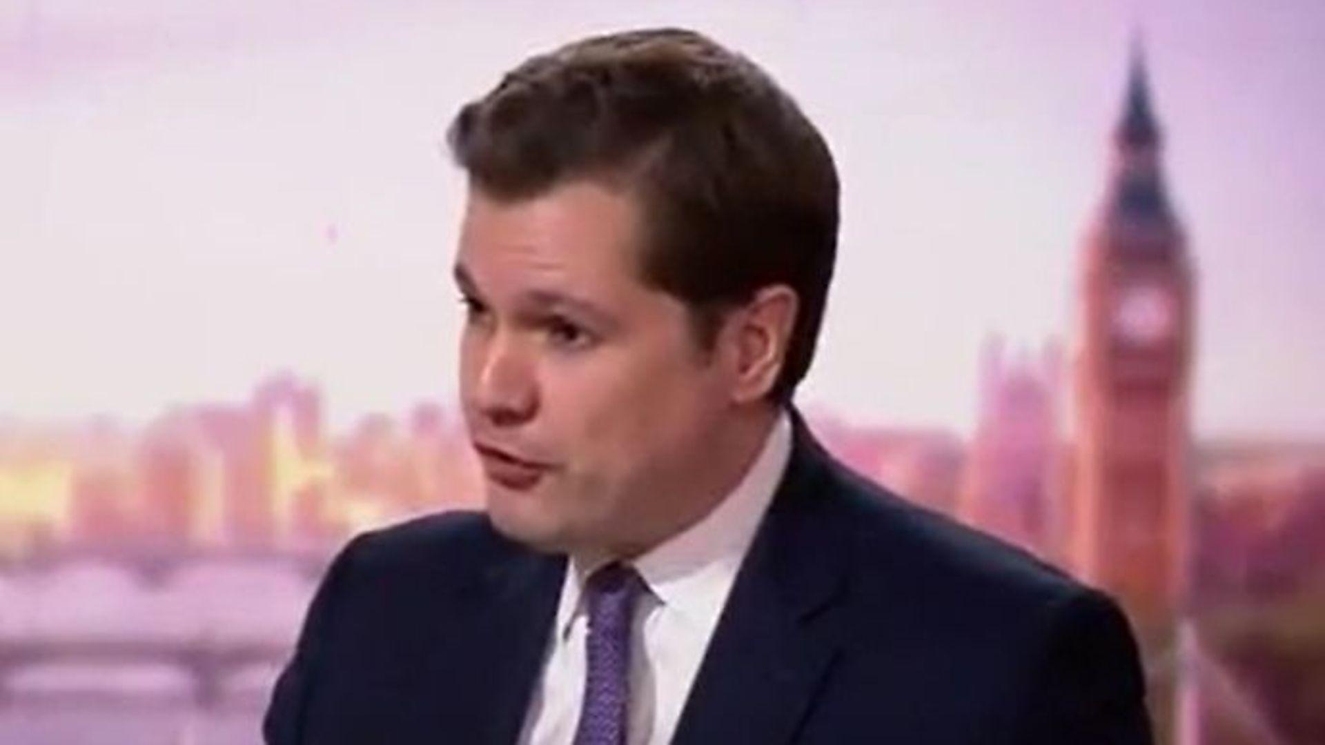 Communities minister Robert Jenrick on the Andrew Marr show - Credit: Twitter