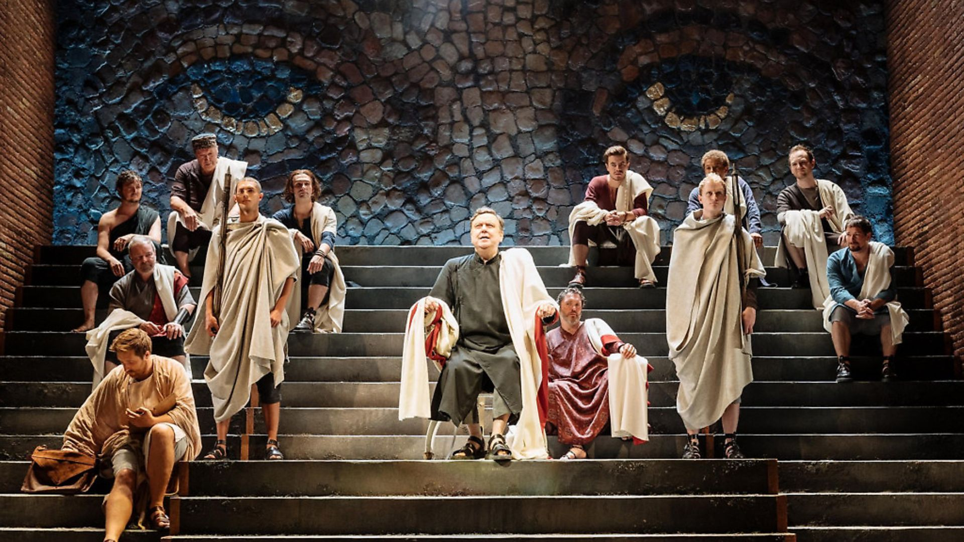 Richard McCabe holds court as Cicero in Imperium. Picture: Manuel Harlan - Credit: Archant