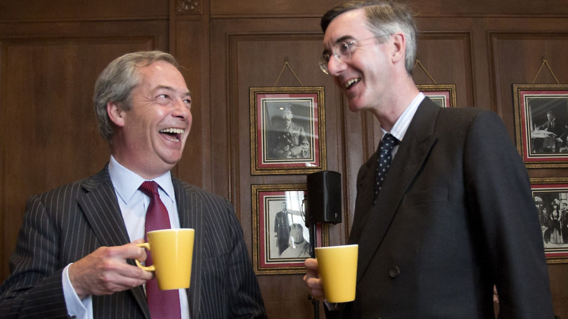 Nigel Farage and Jacob Rees-Mogg are both pushing Brexit. Photograph: Isabel Infates/PA. - Credit: EMPICS Entertainment
