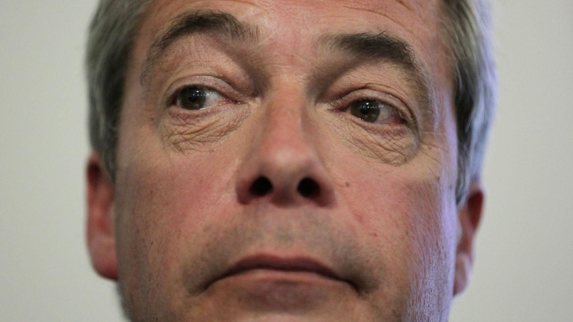 Nigel Farage. Photograph: Daniel Leal-Olivas/PA Images. - Credit: PA Wire/PA Images
