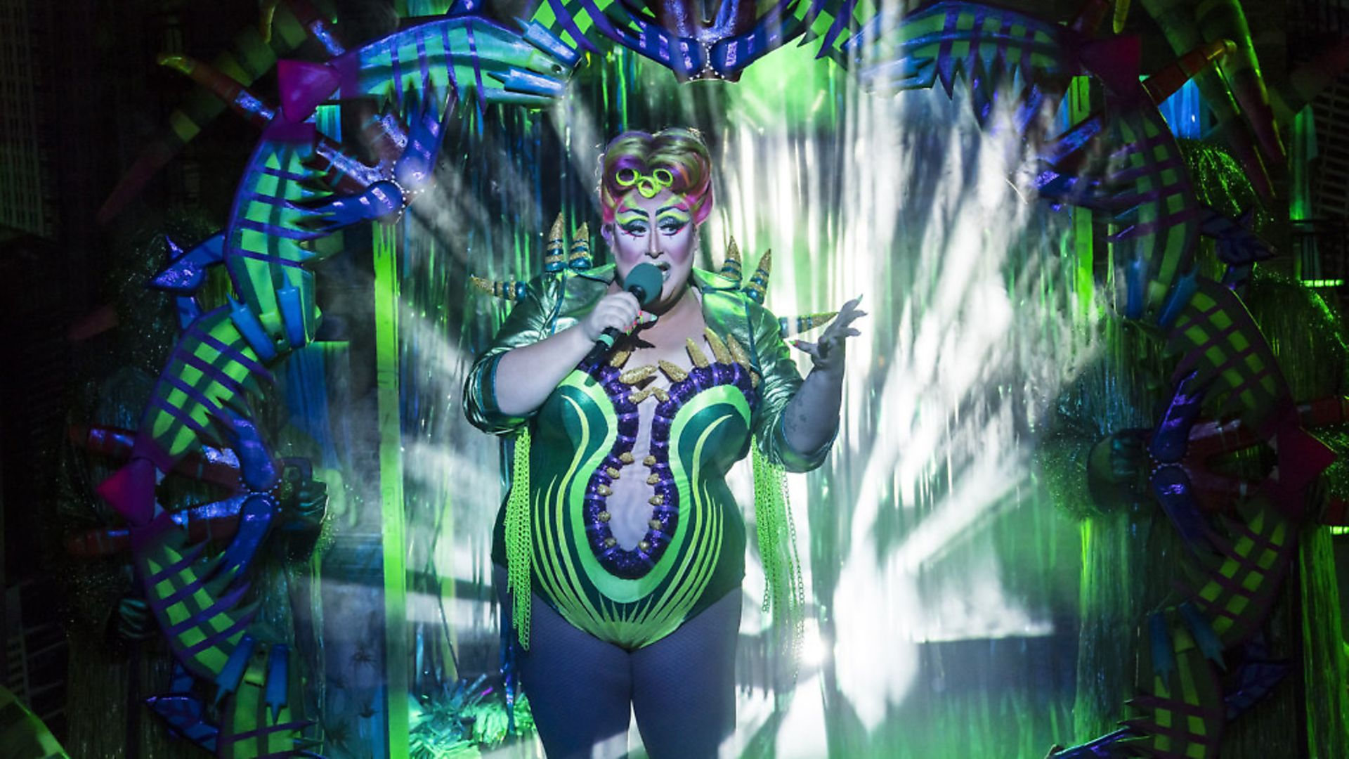 Vicky Vox stars as Audrey II in Maria Aberg's dazzling adaptation of the Little Shop of Horrors ; Credit : Johan Persson - Credit: Archant