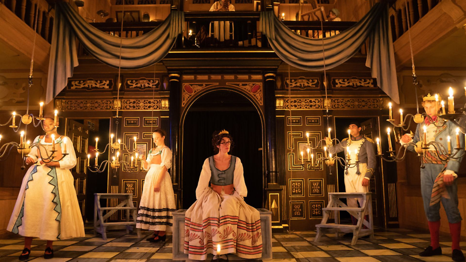 Love's Labour's Lost directed by Nick Bagnall in the Sam Wanamaker Playhouse. Picture: Marc Brenner - Credit: Archant
